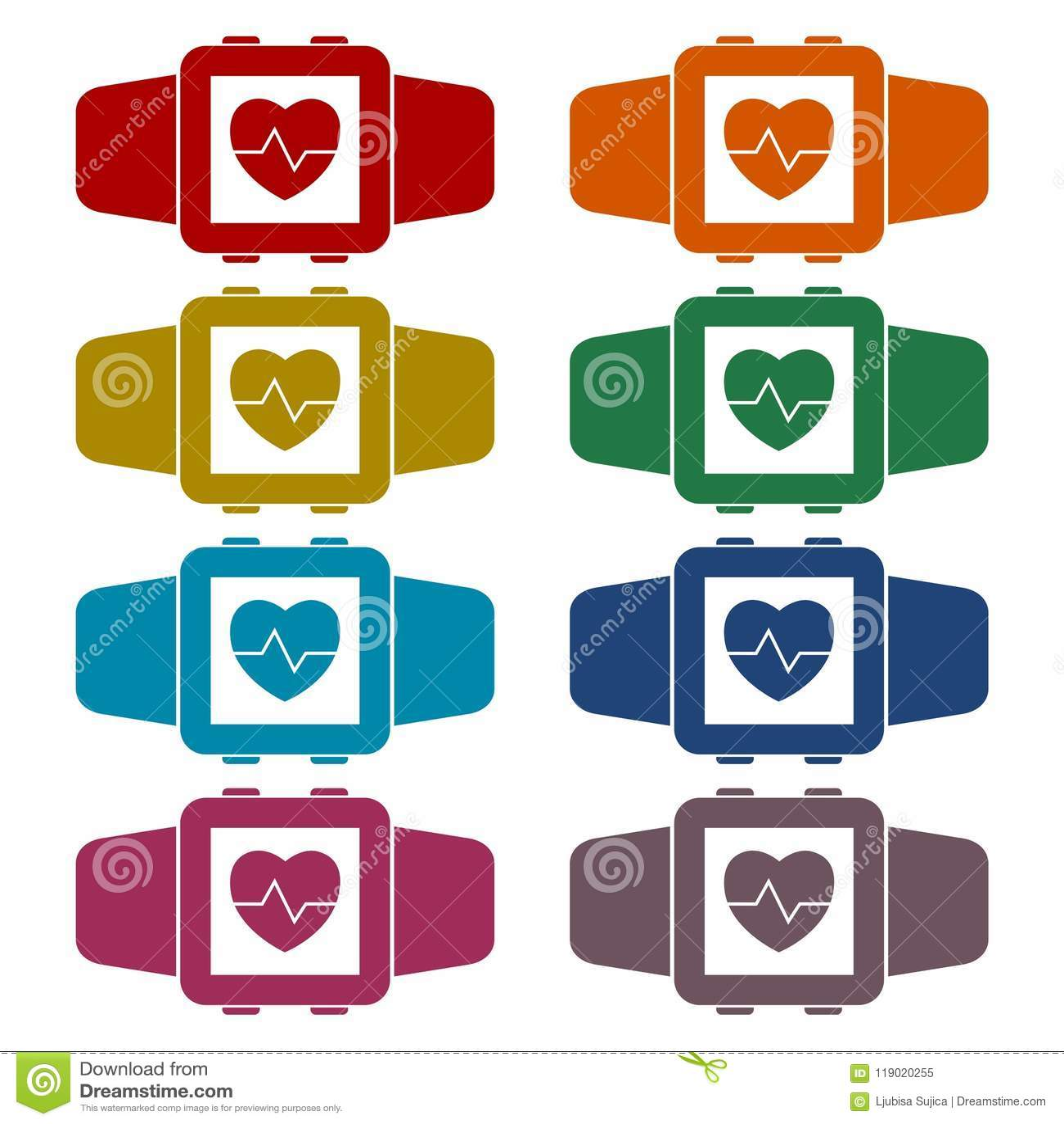 Grupo wearable da etiqueta do símbolo da tecnologia de Smartwatch