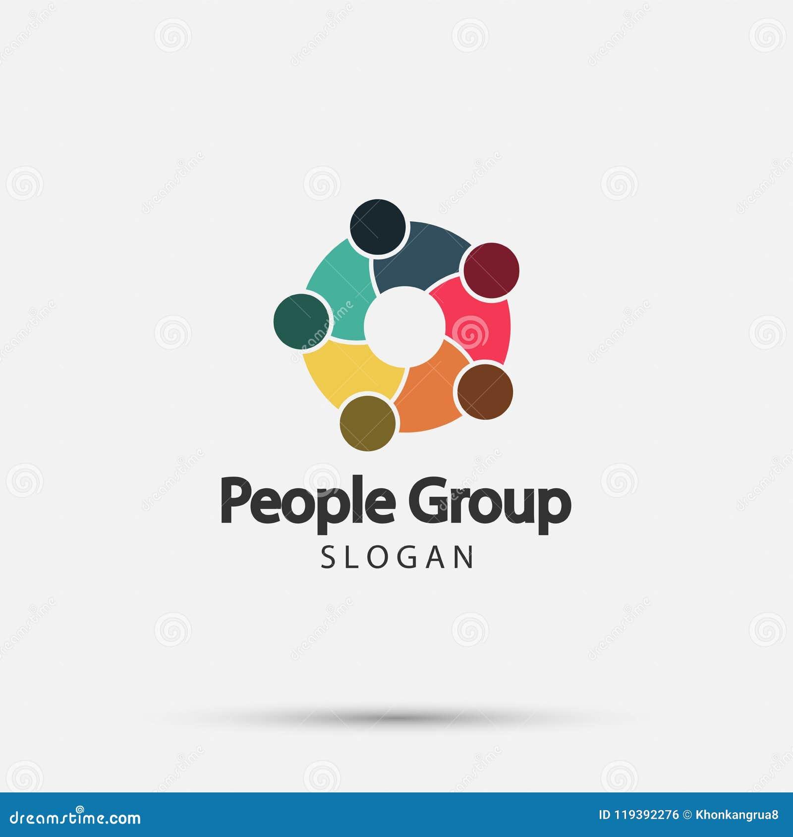 Grupowi pożarniczy ludzie loga uścisku dłoni w okręgu, pracy zespołowej ikona postać z kreskówki śmieszny ilustratora ołówek pisz