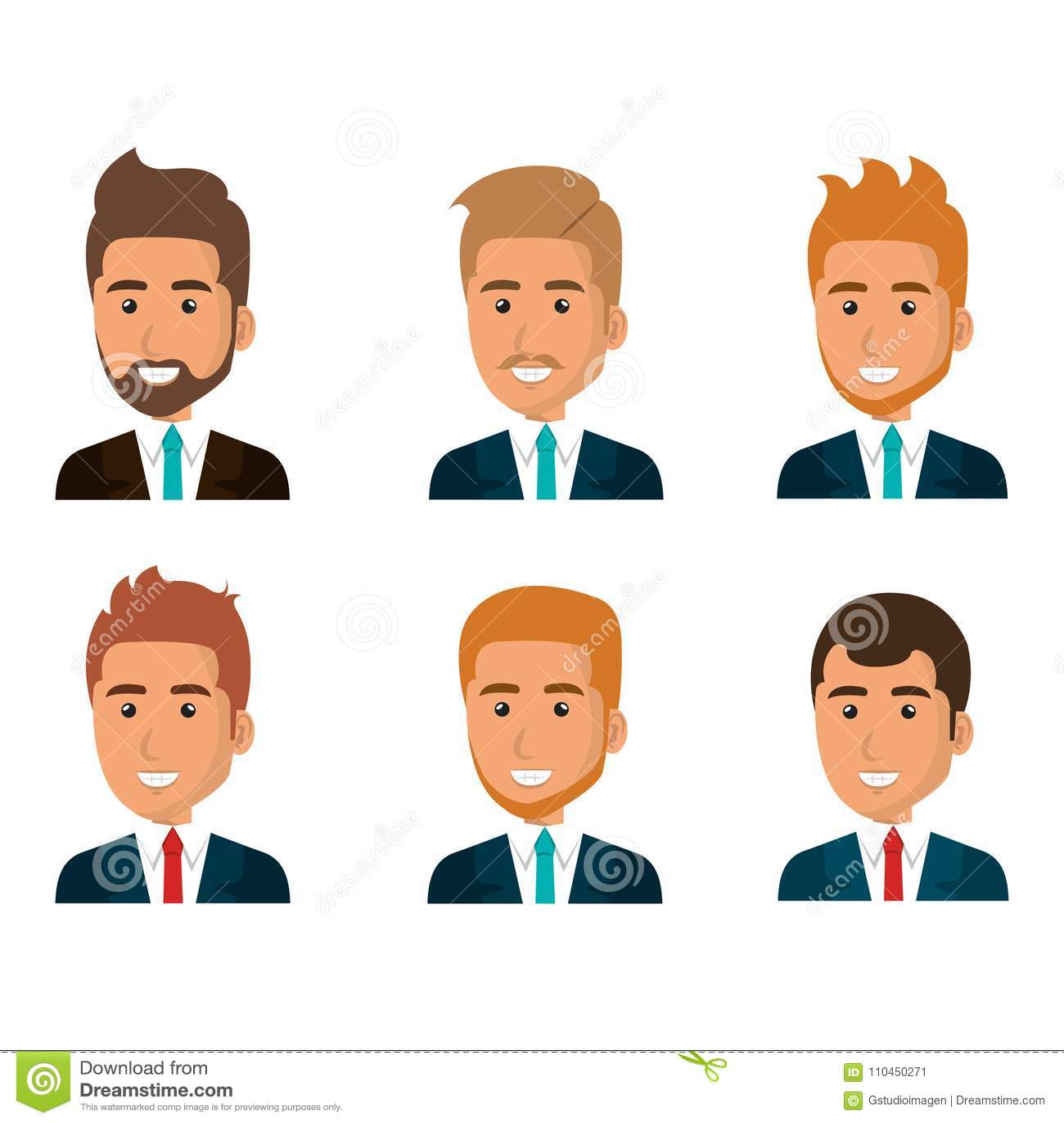 Grupp av affärsmanteamwork