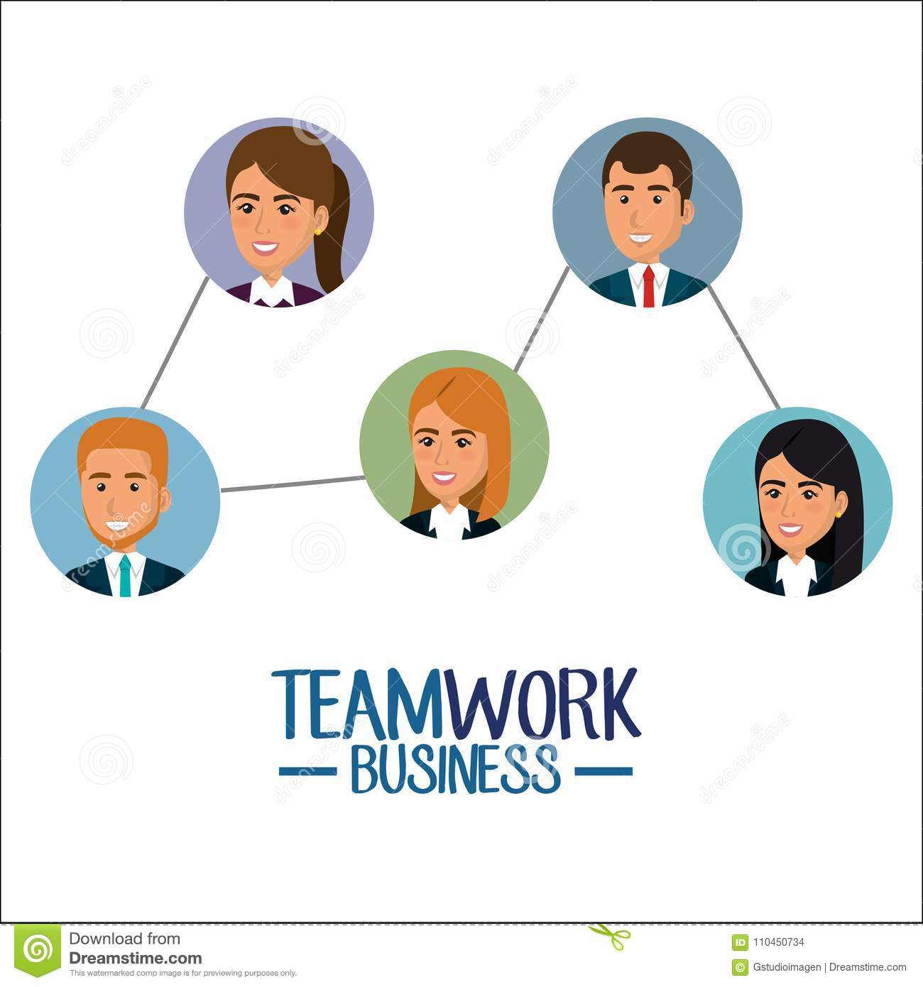 Grupp av businespeopleteamwork
