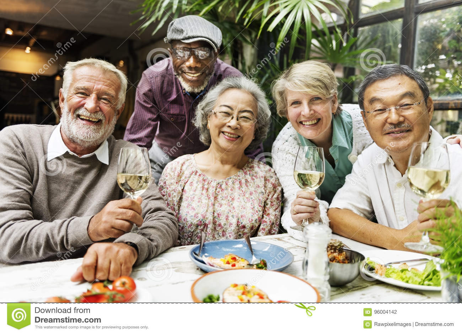 Grupp av det höga avgångmötet upp lyckabegrepp