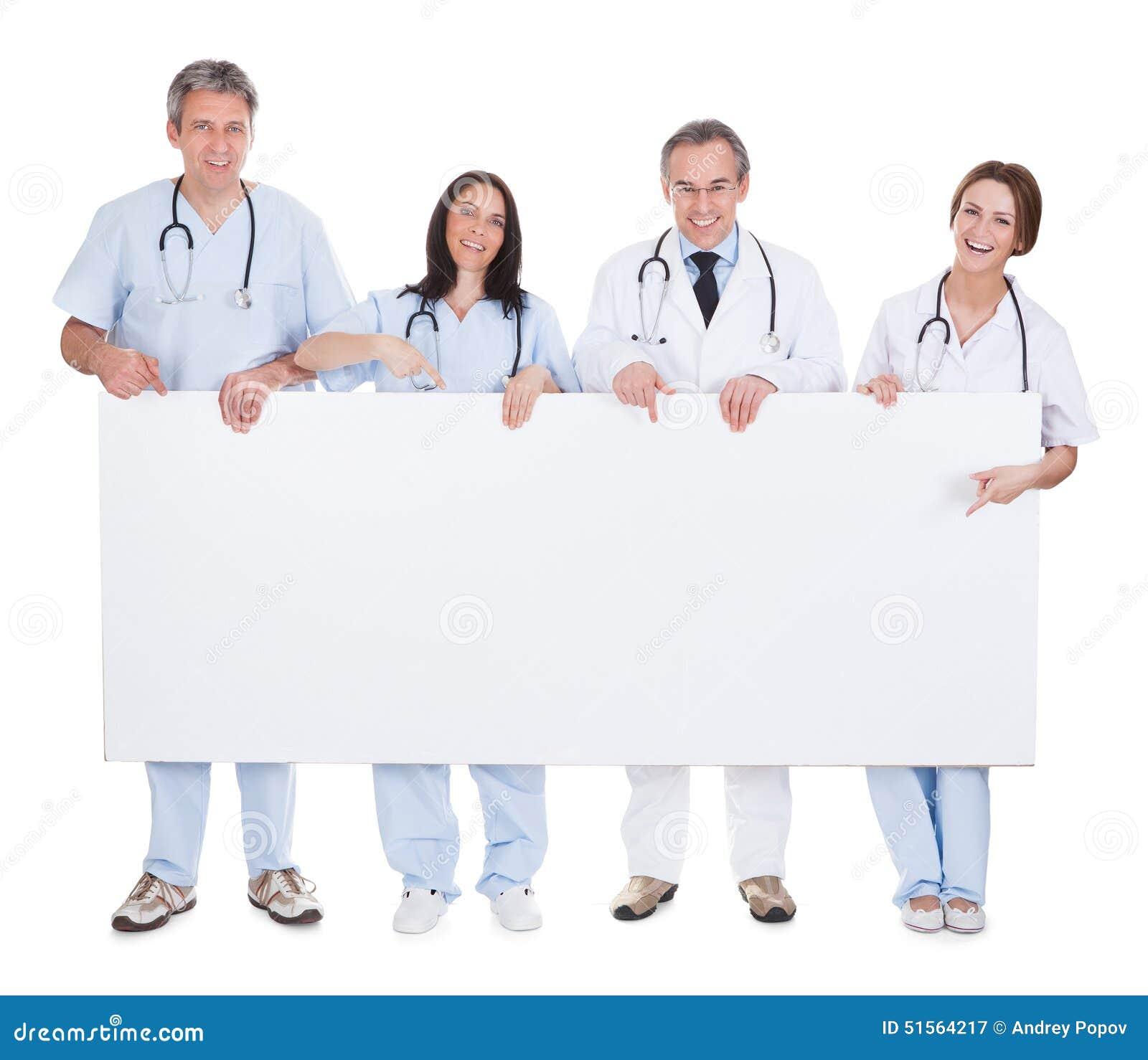 Grupp av doktorsinnehavplakatet