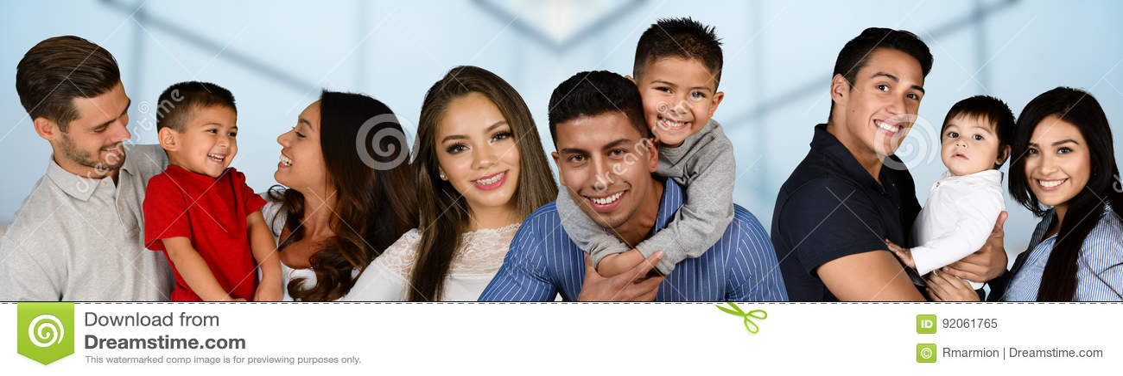 Grupp av familjer
