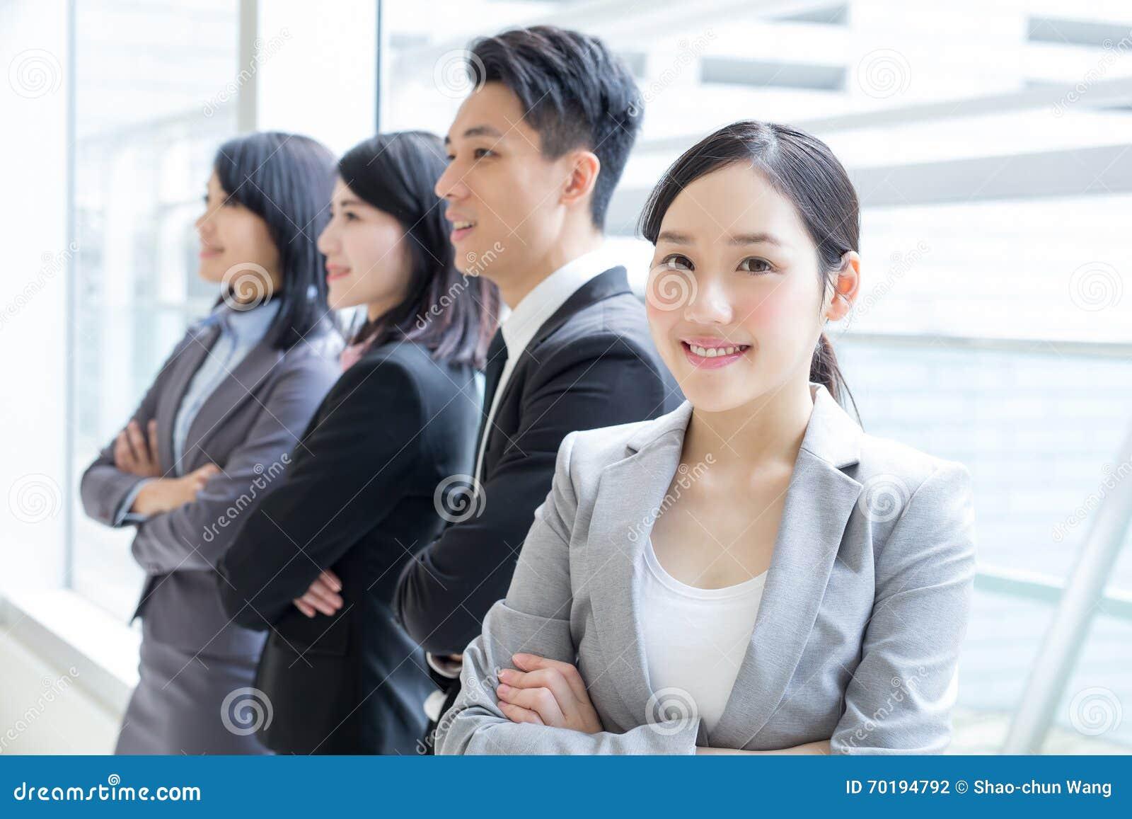 Grupp av framgångaffärsfolk