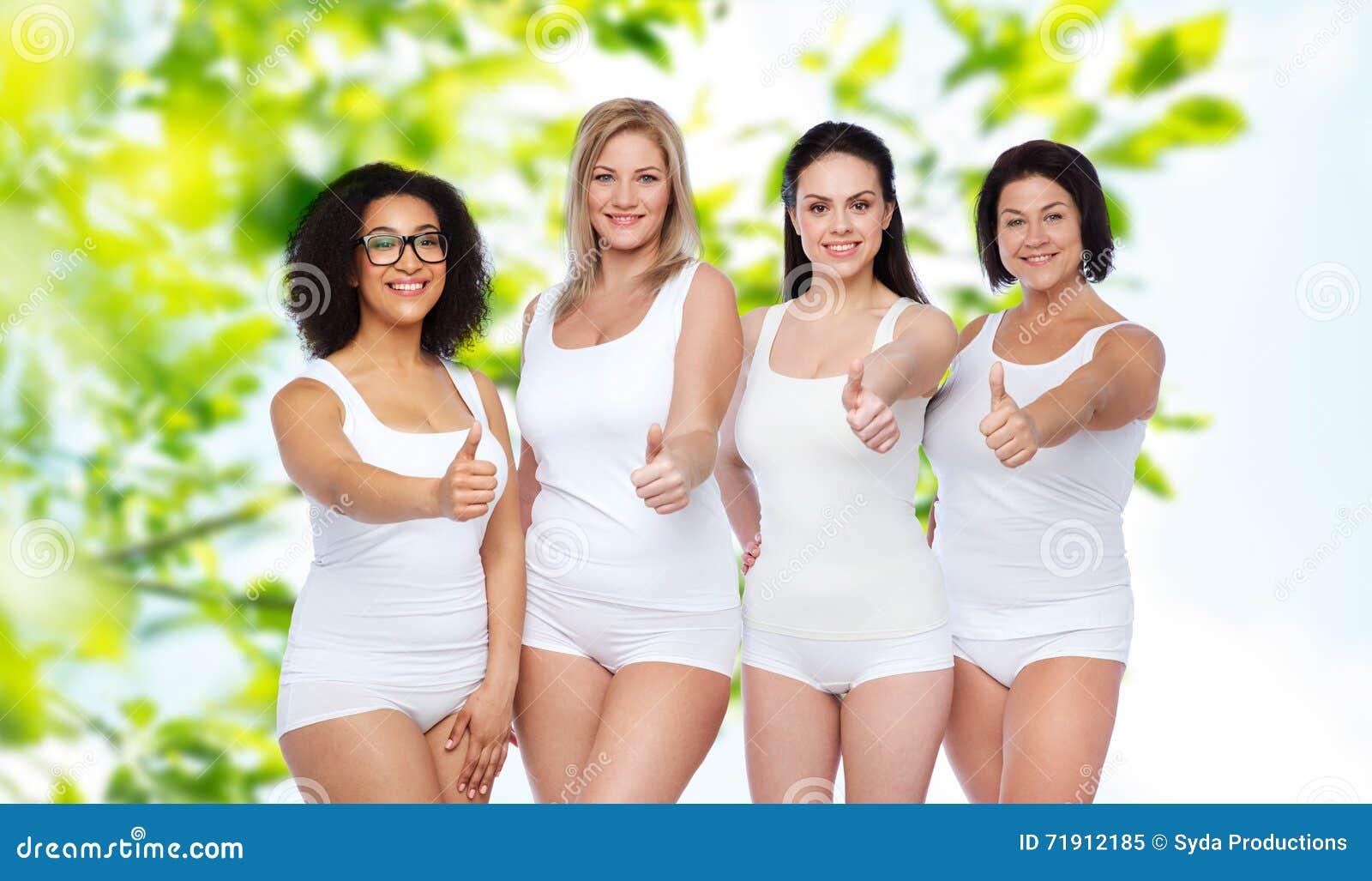 Kvinnor som visar allt