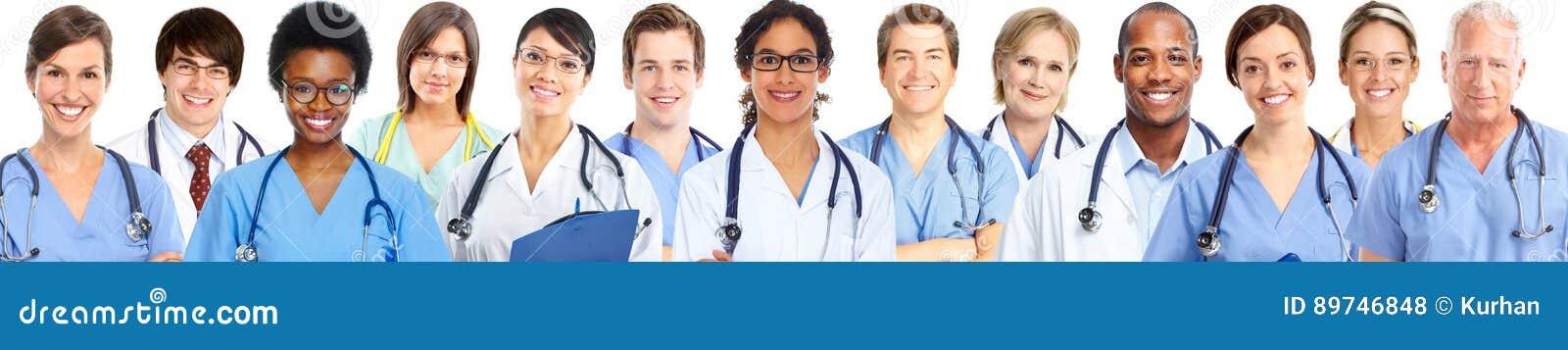 Grupp av medicinska doktorer