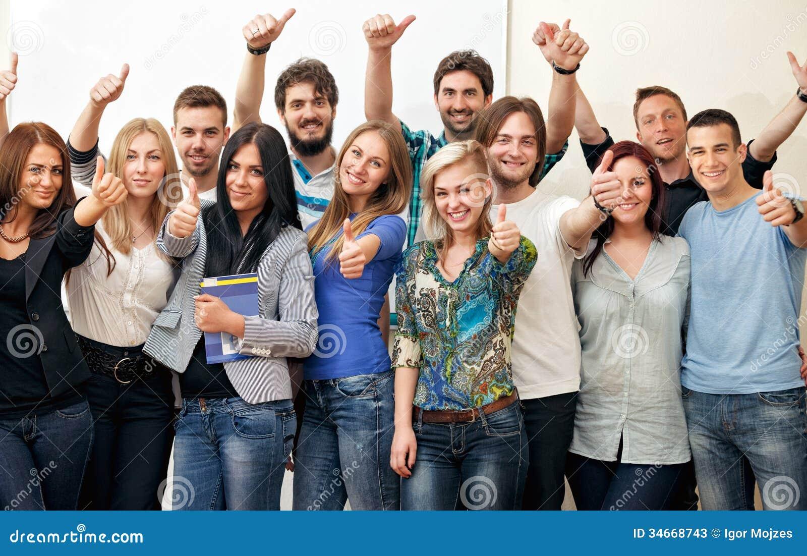 Grupp av studenter