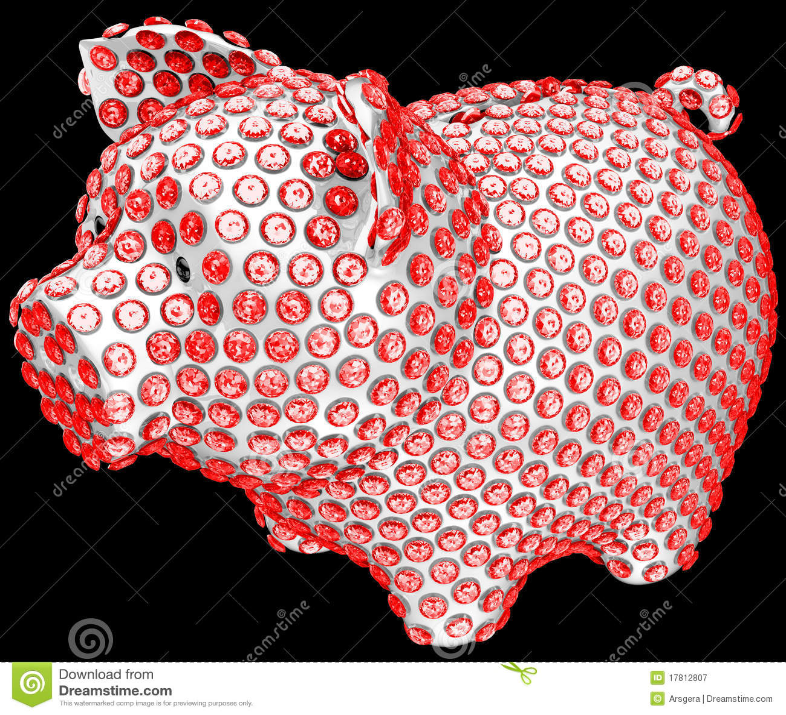 Gruppdiamanter lade in piggy red