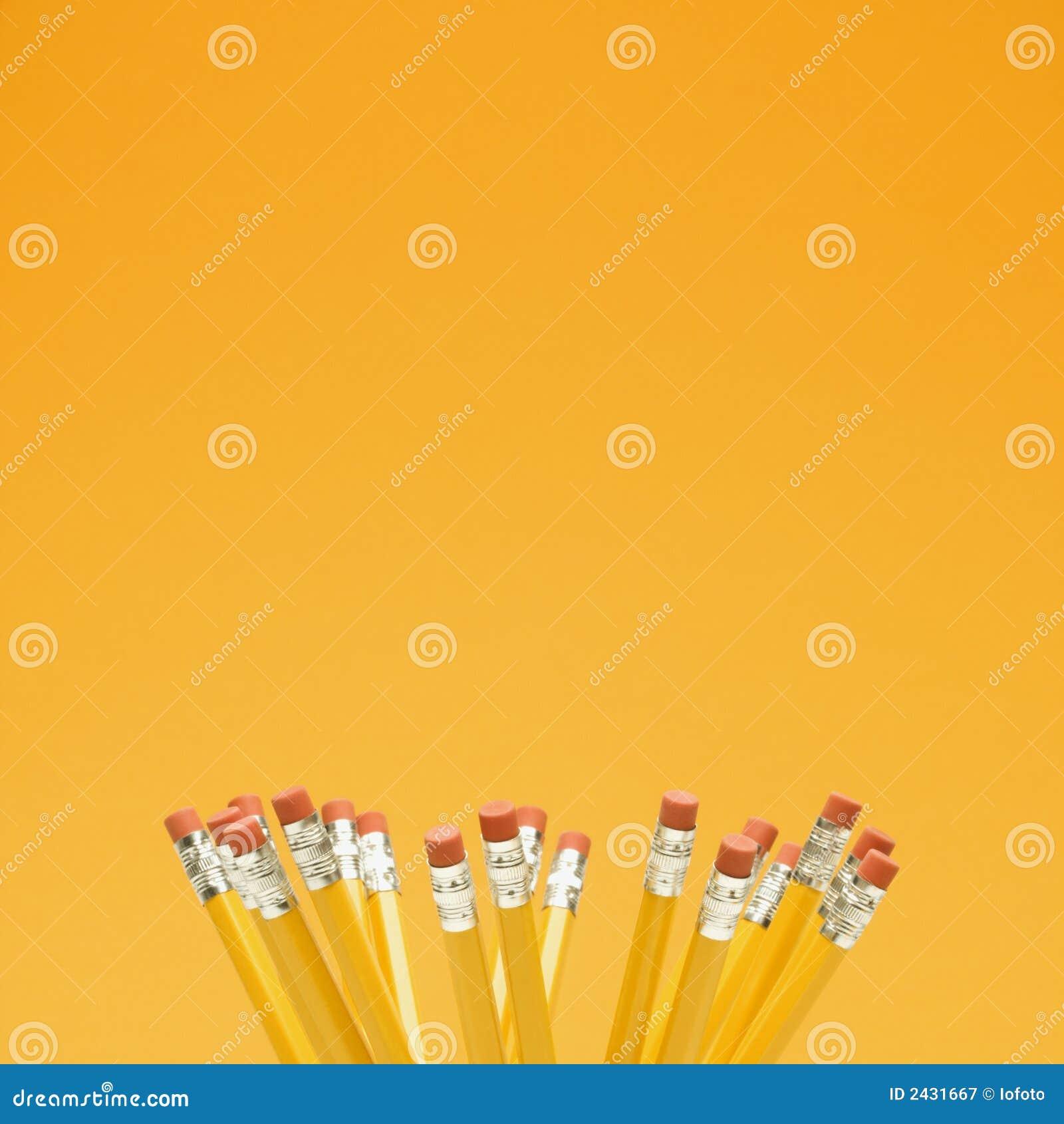 Gruppe Bleistifte.