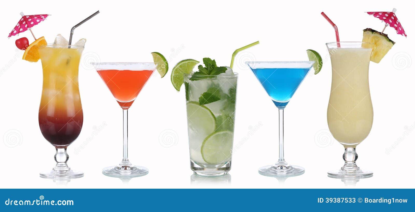 Gruppe Cocktails