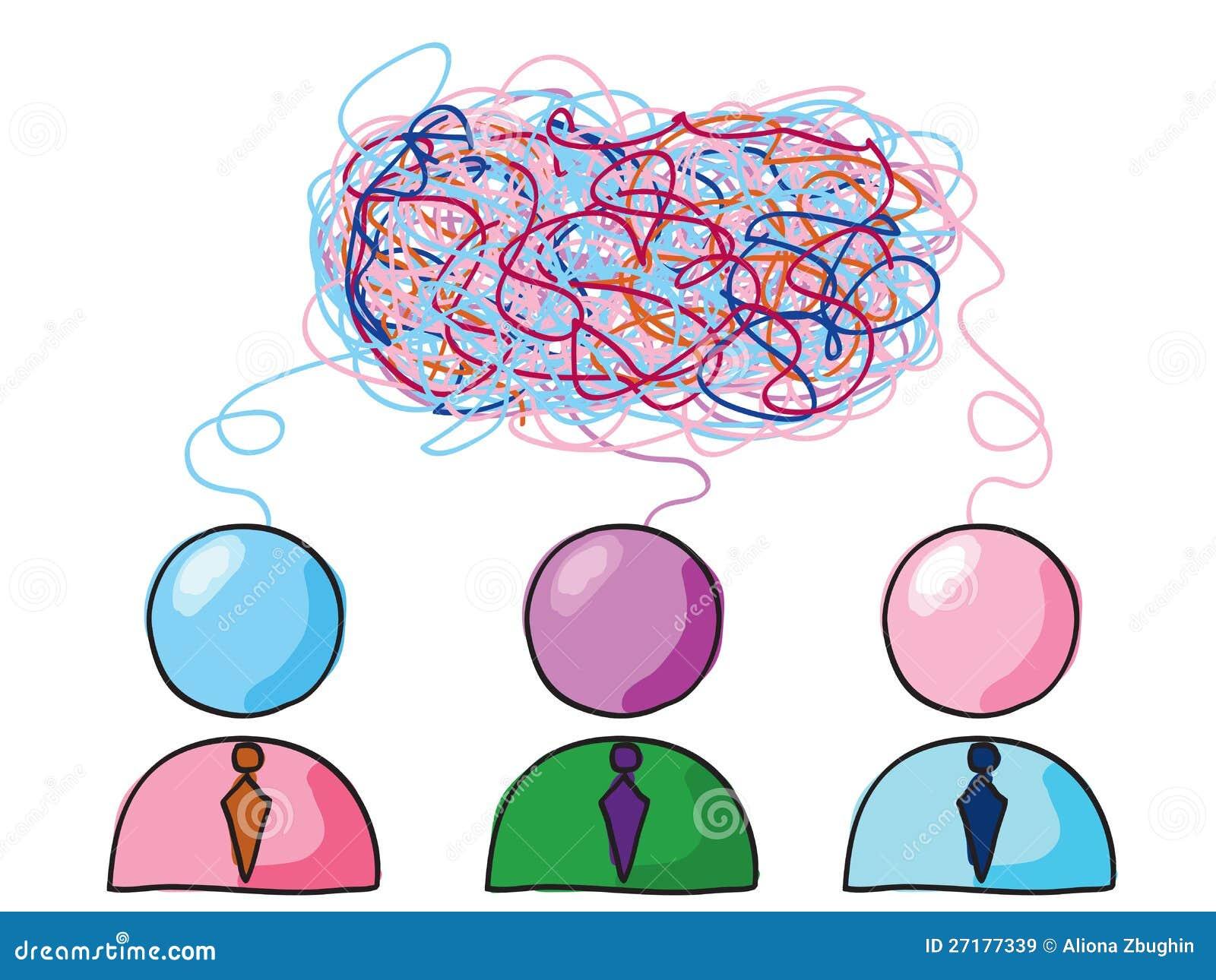 Gruppe denken vektor abbildung. Illustration von ...