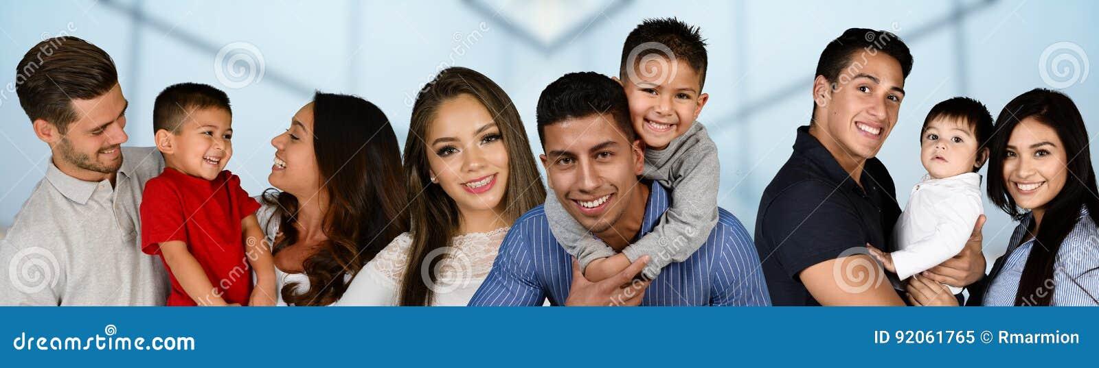 Gruppe Familien