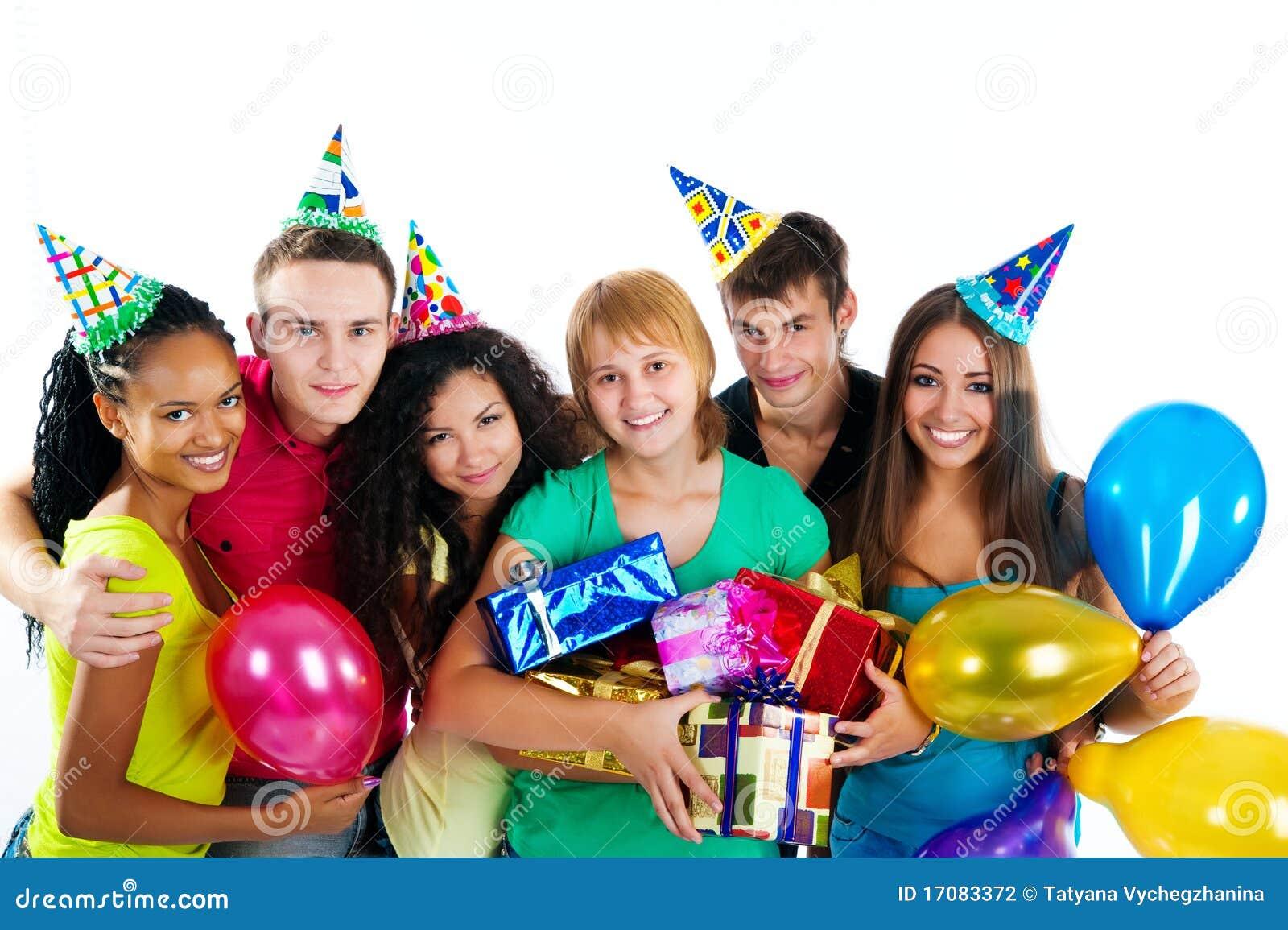 Gruppe Jugendlichen getrennt