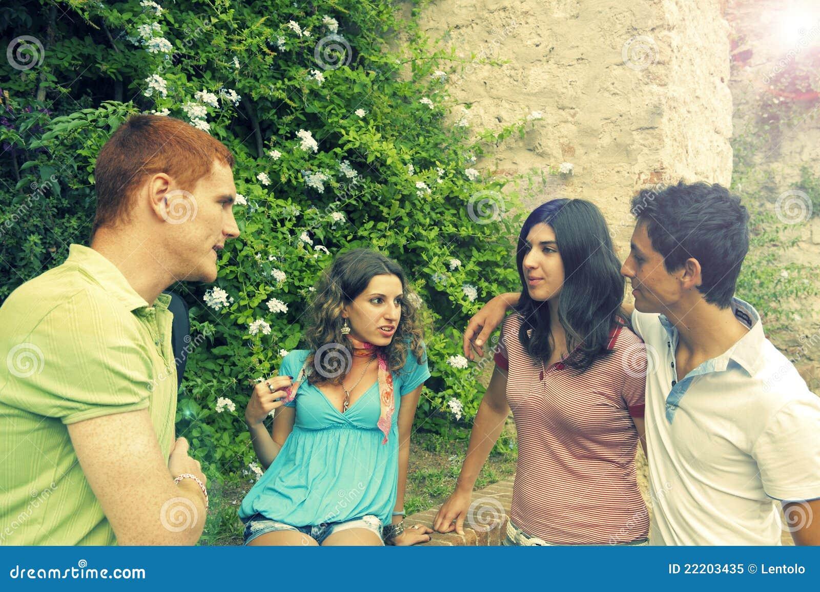 Gruppe Kursteilnehmer Pisa Italien