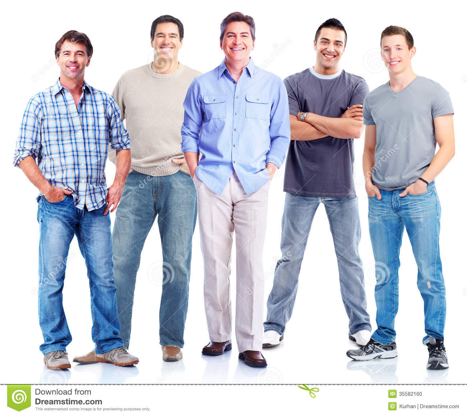 Gruppe Männer.