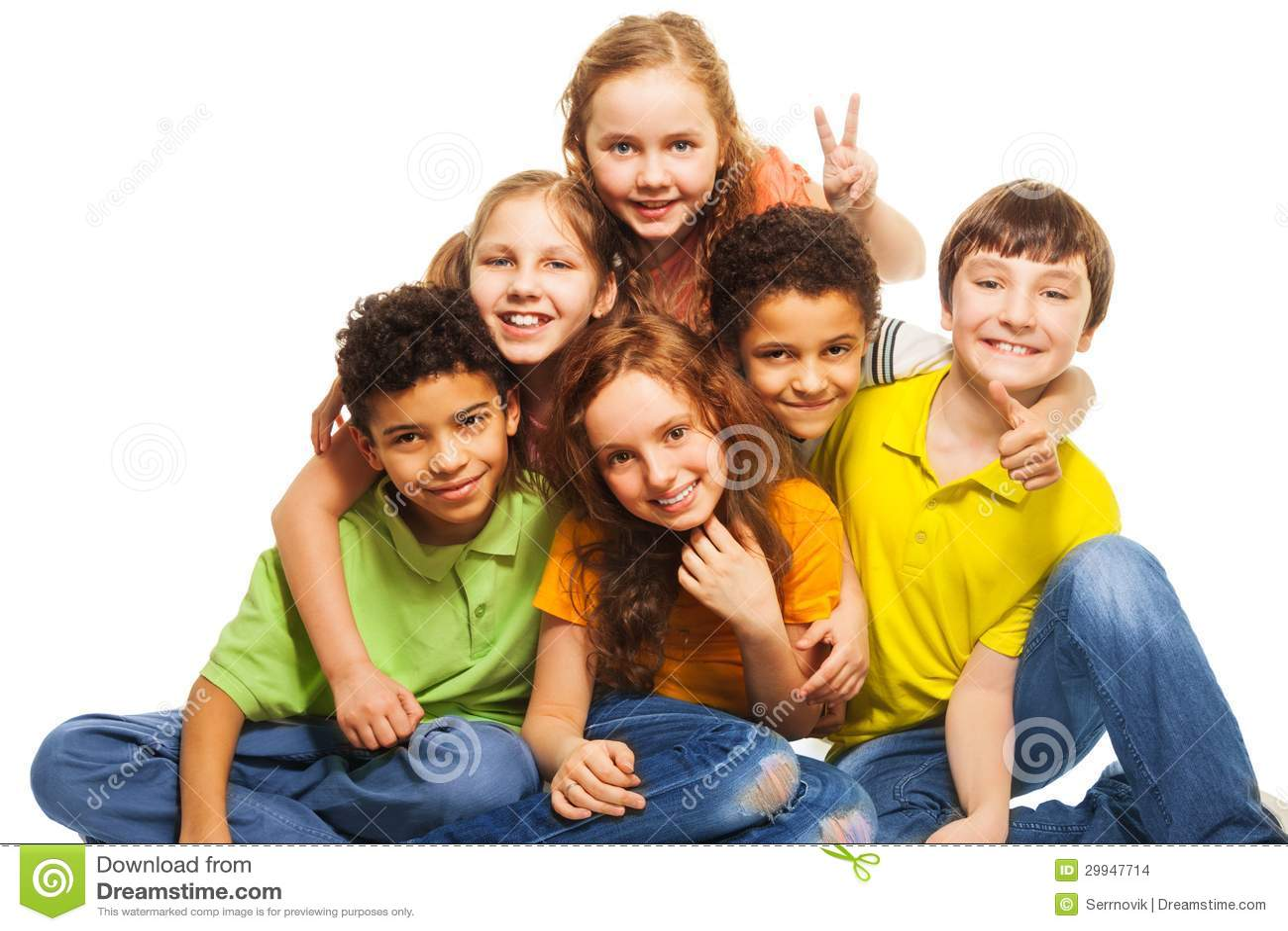 Gruppe glückliche Kinder