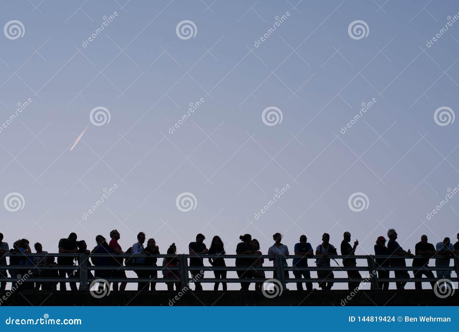 Gruppe von Personenen-Schattenbild