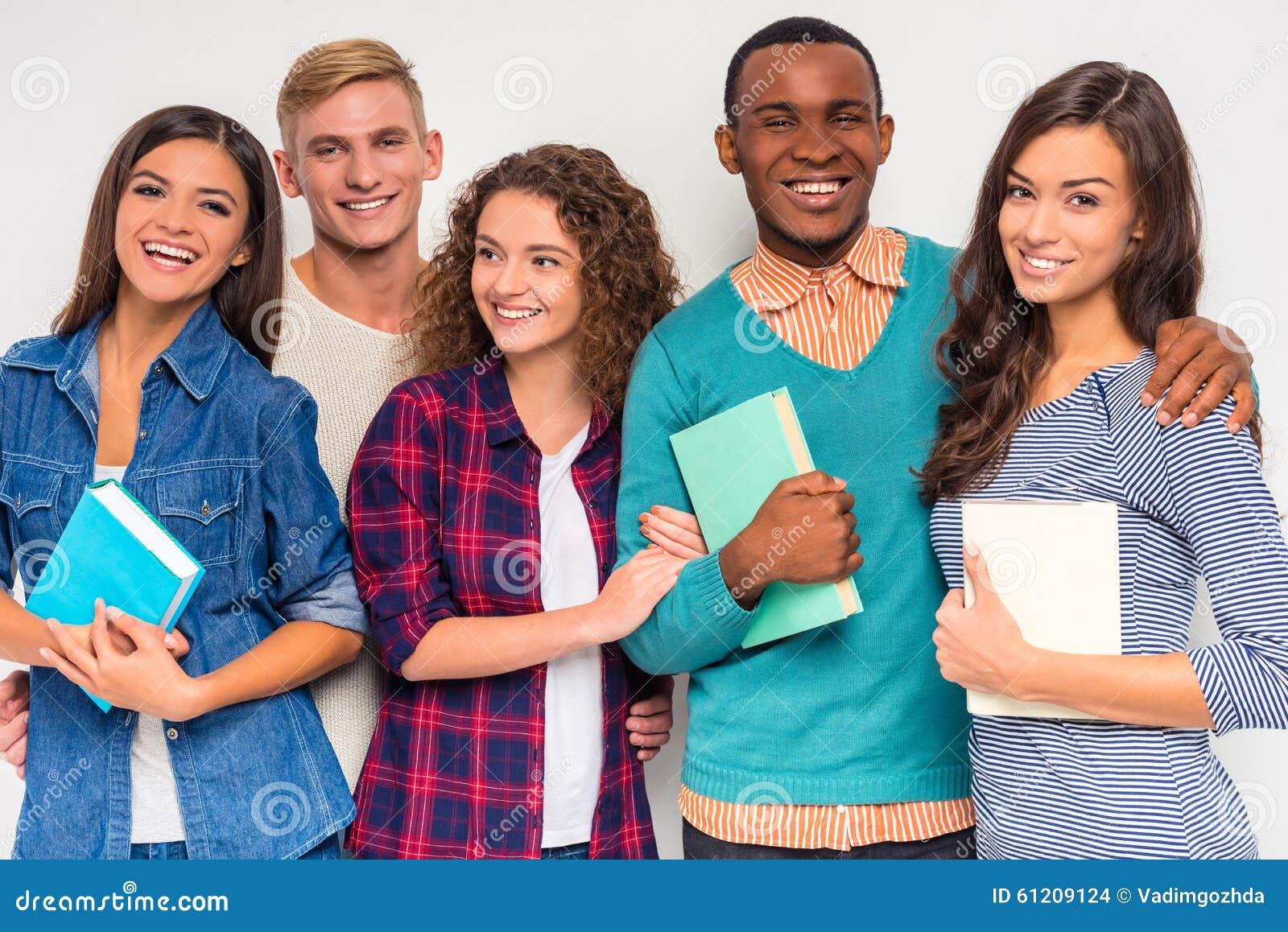 Gruppe von Personenen-Studenten
