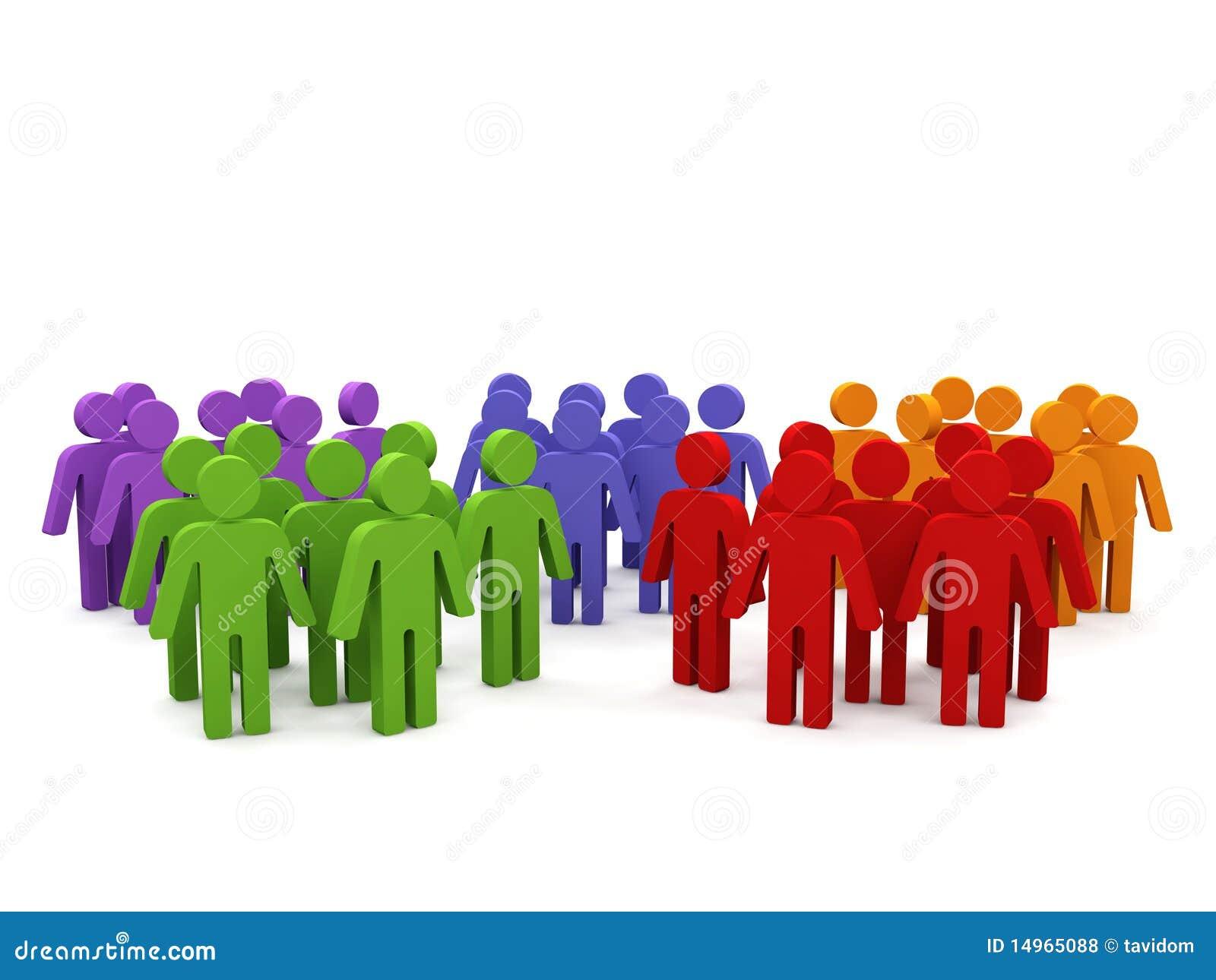 Gruppen von Personen.