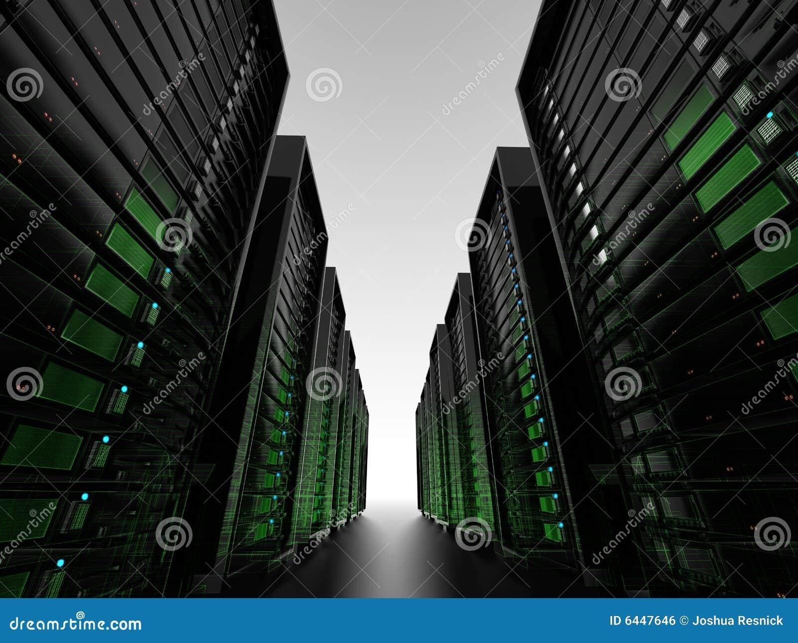 Gruppi di terminali di server con wireframe