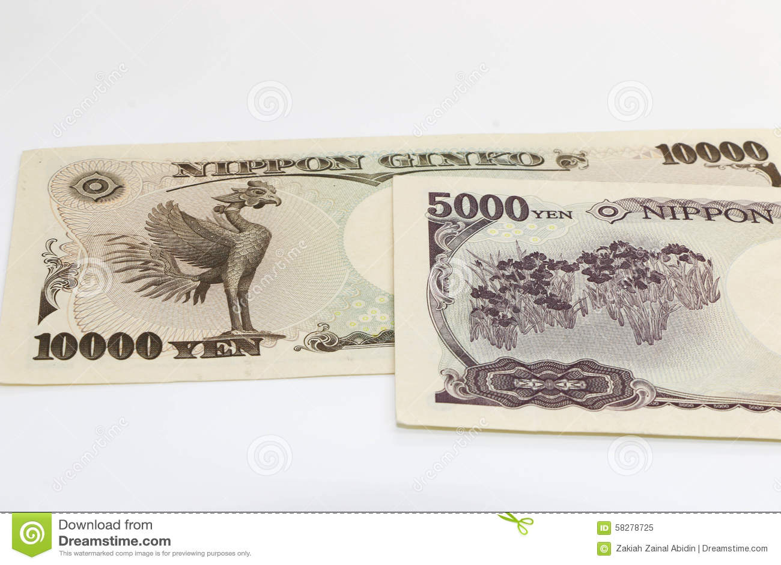 Gruppjapanen bemärker yen