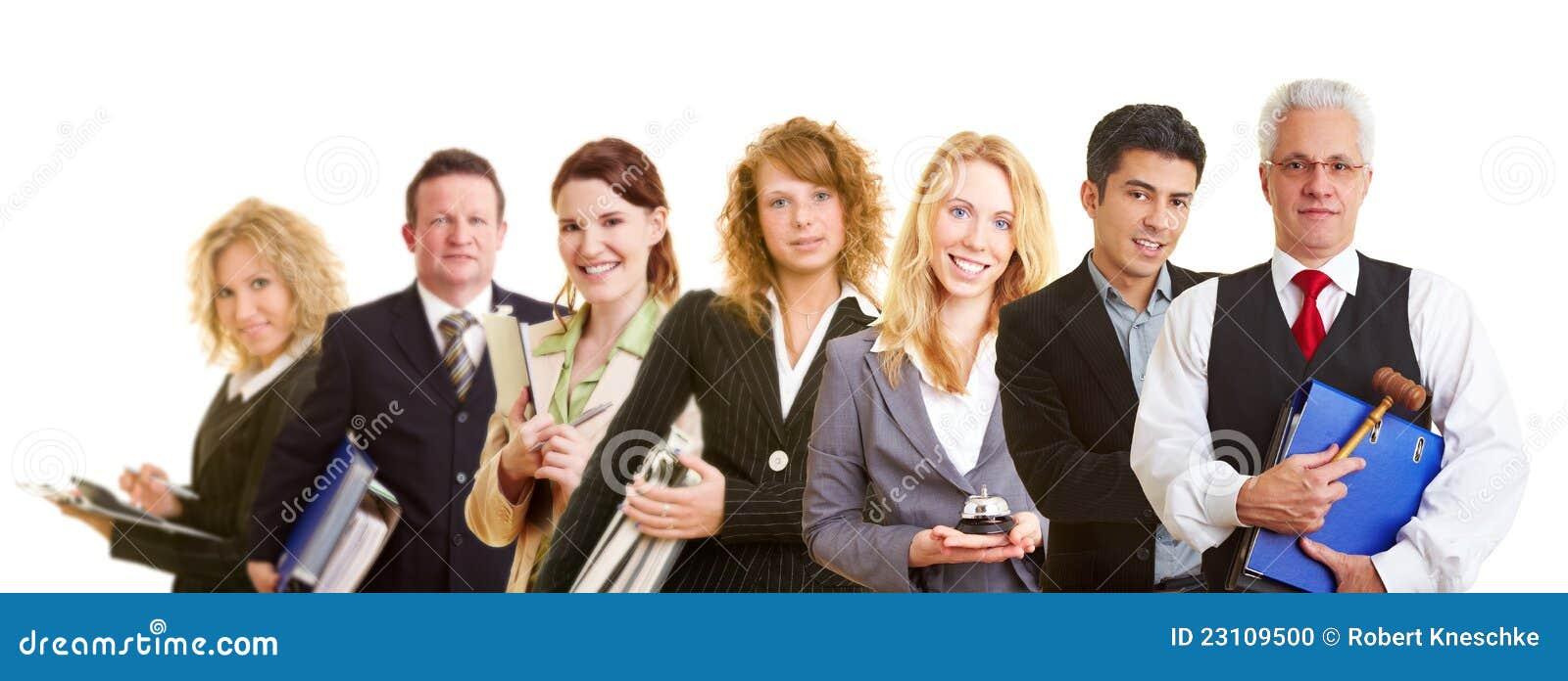 Grupplag av affärsfolk