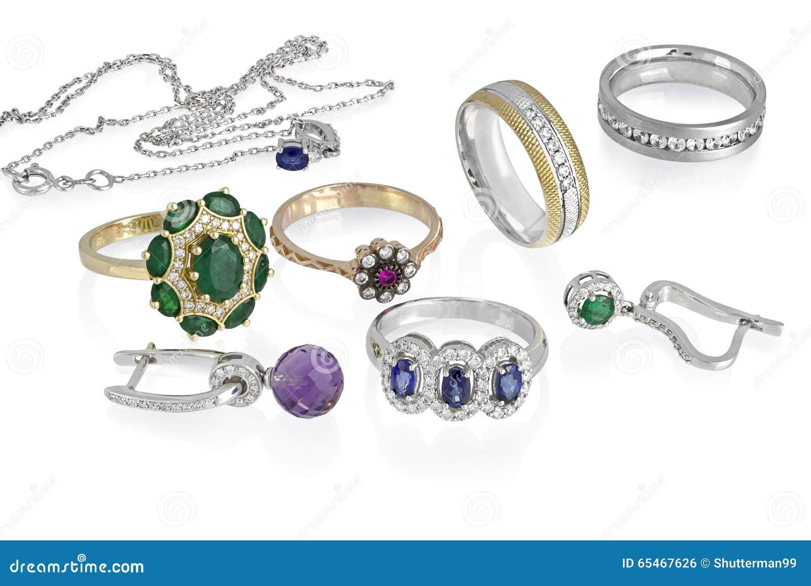 Gruppo dei gioielli isolato