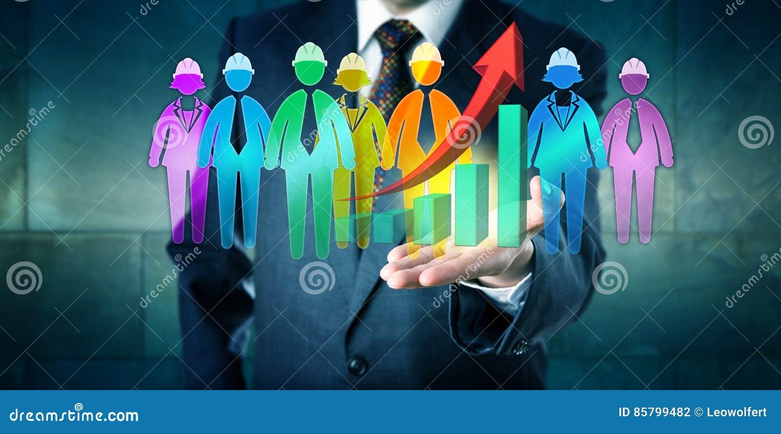 Gruppo del lavoro di Offering Successful Multiethnic del responsabile