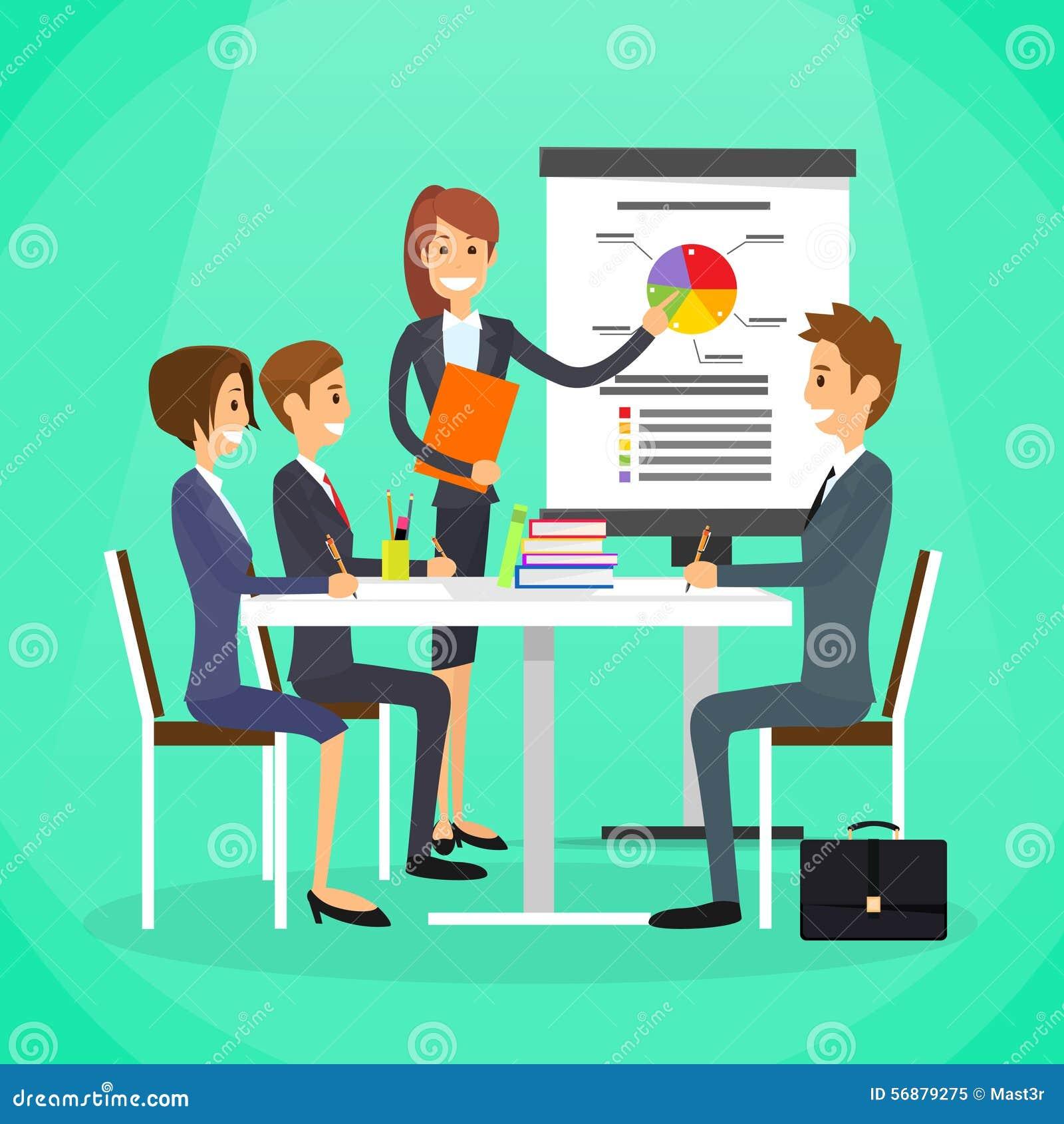 Gruppo della gente di Show Graph Business della donna di affari