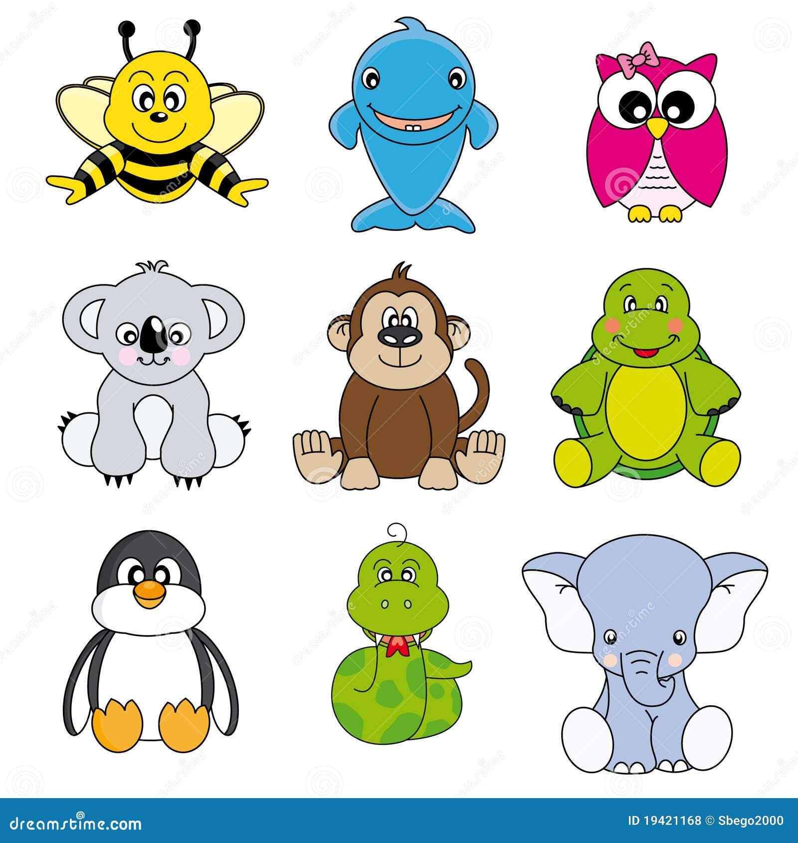 Gruppo Di Animali Illustrazione Vettoriale Illustrazione Di Fumetto