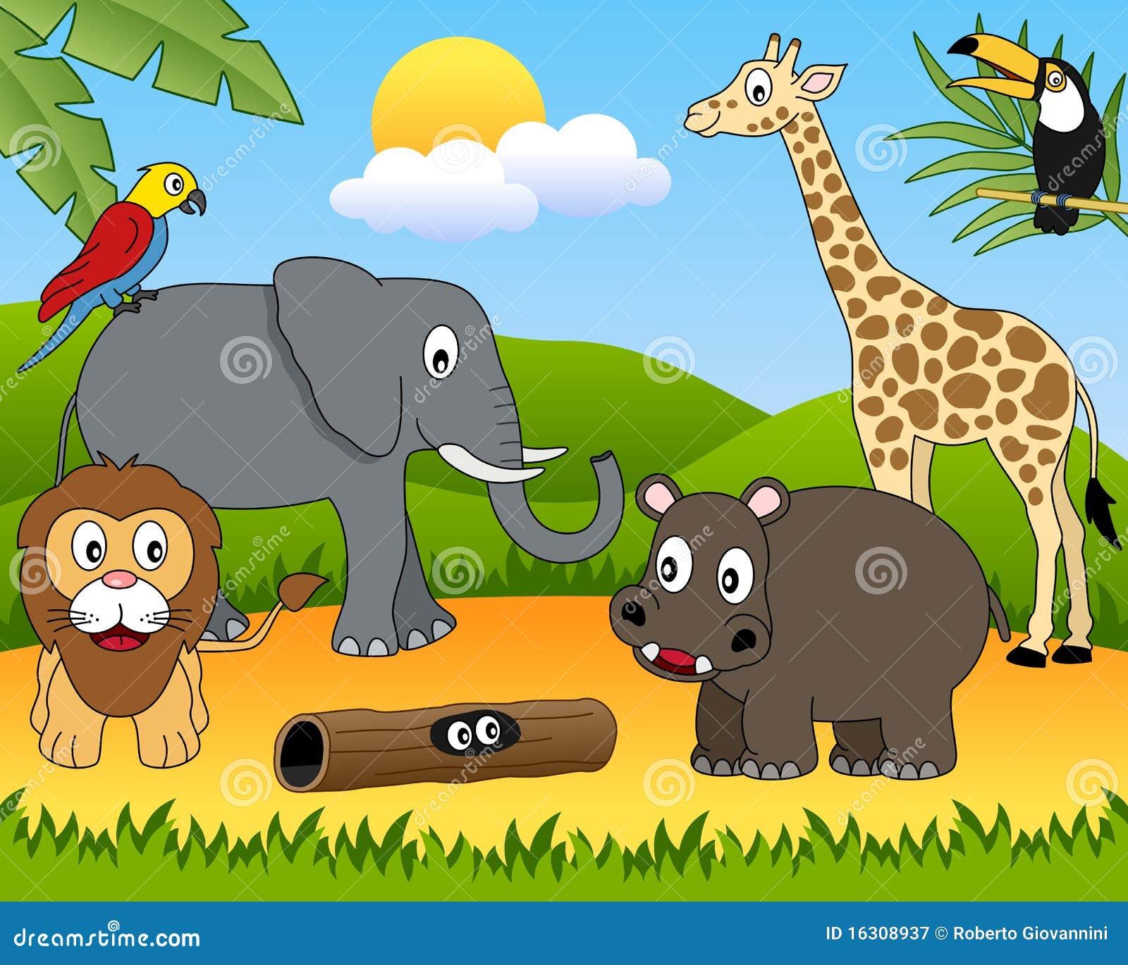 Gruppo di animali africano [1]