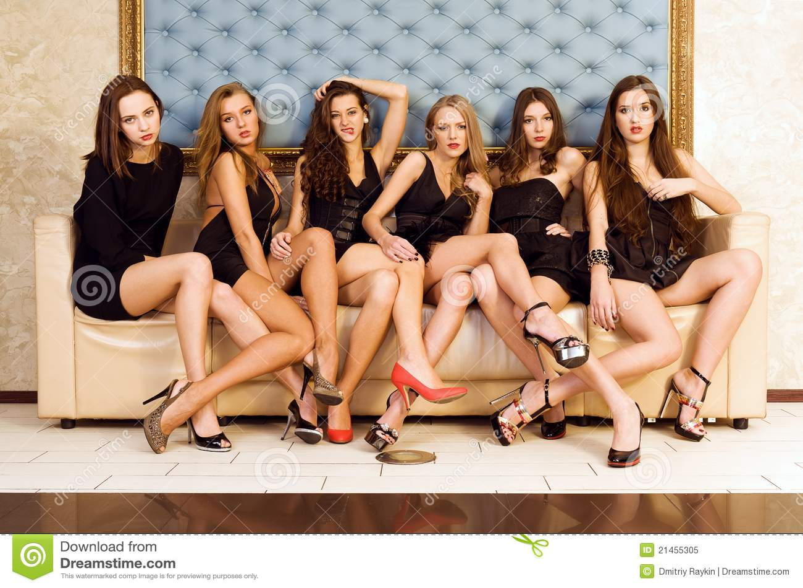 Gruppo di bei modelli