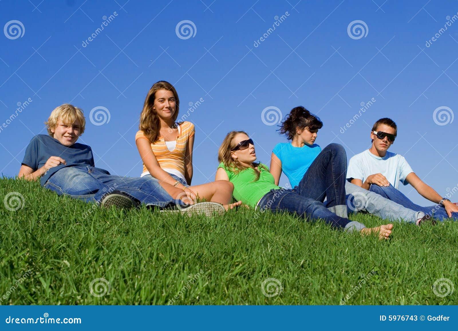Gruppo di distensione di anni dell adolescenza
