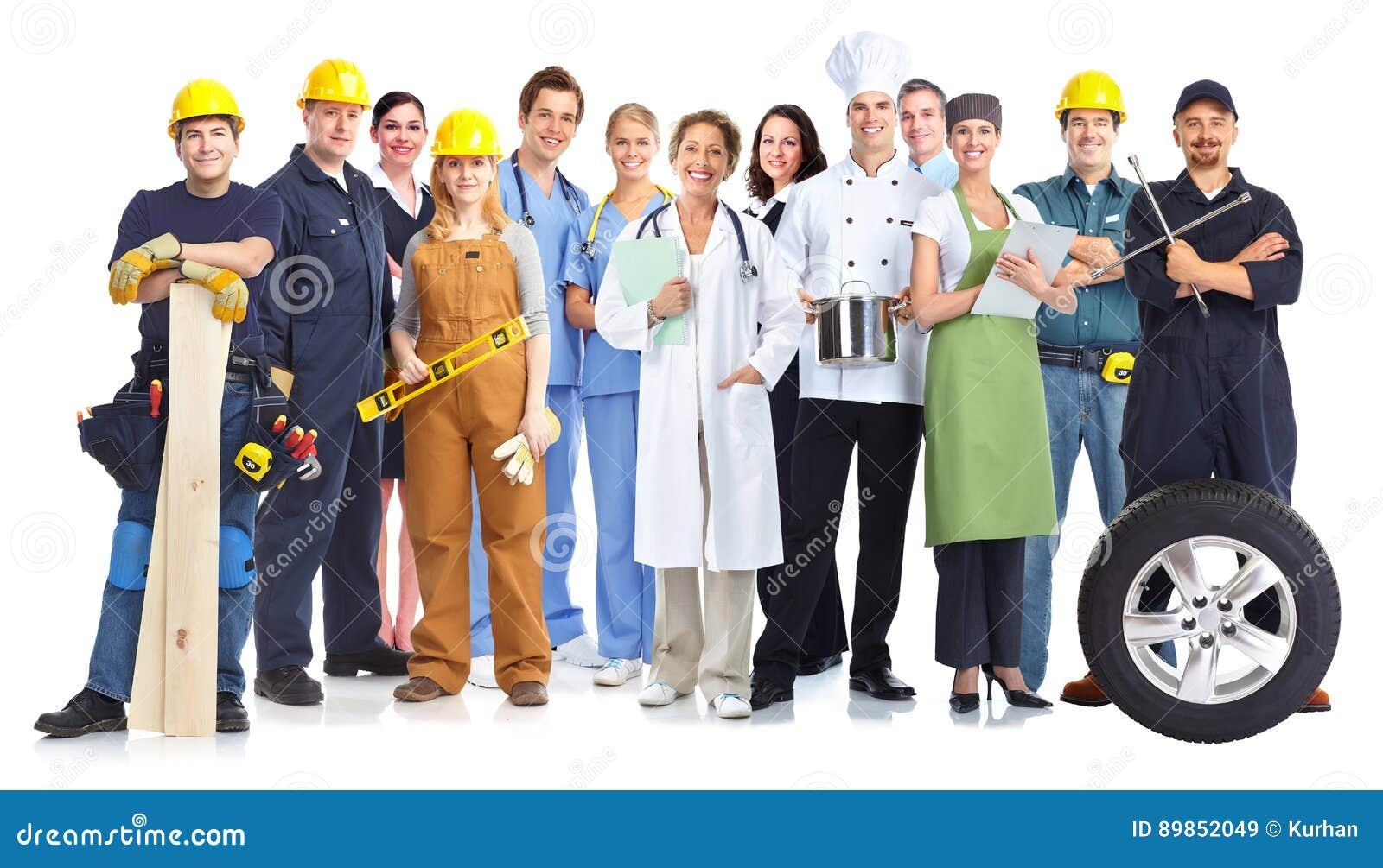 Gruppo di gente dei lavoratori