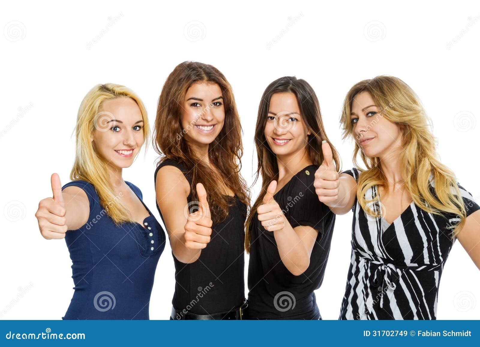 Gruppo di ragazze con i pollici su immagini stock libere da diritti immagine 31702749 - Foto tiener ruimte meisje ...