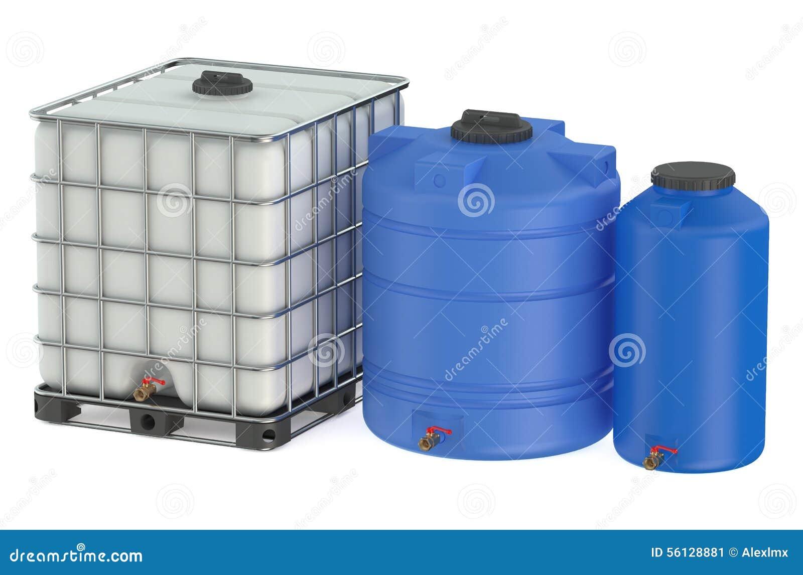Gruppo di serbatoi di acqua di plastica illustrazione di for Serbatoio di acqua calda in plastica