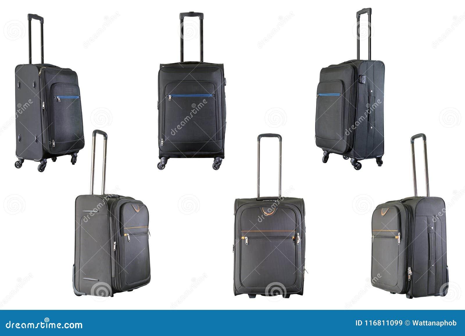Gruppo di valigie marroni e nere
