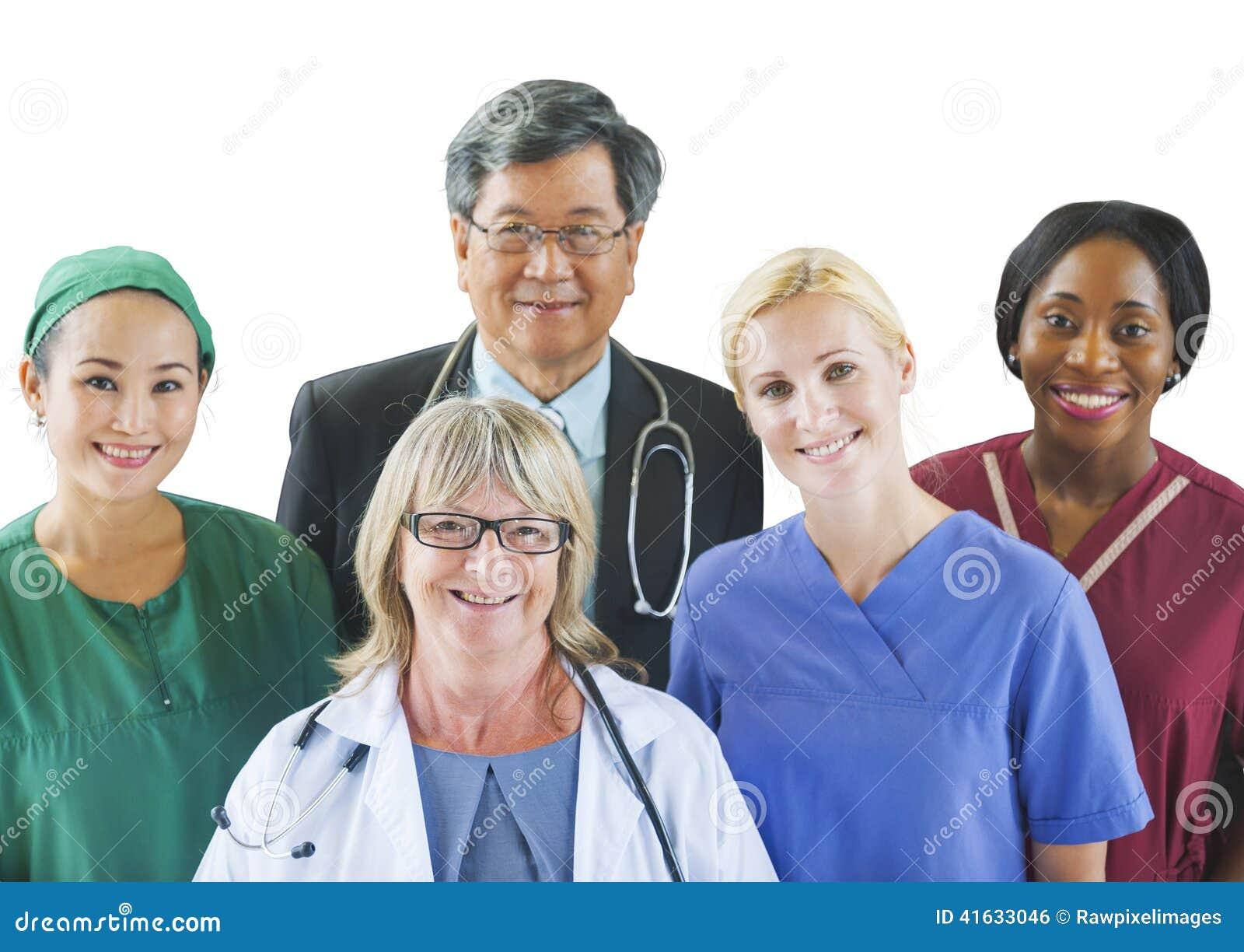 Gruppo Multi-etnico di medici