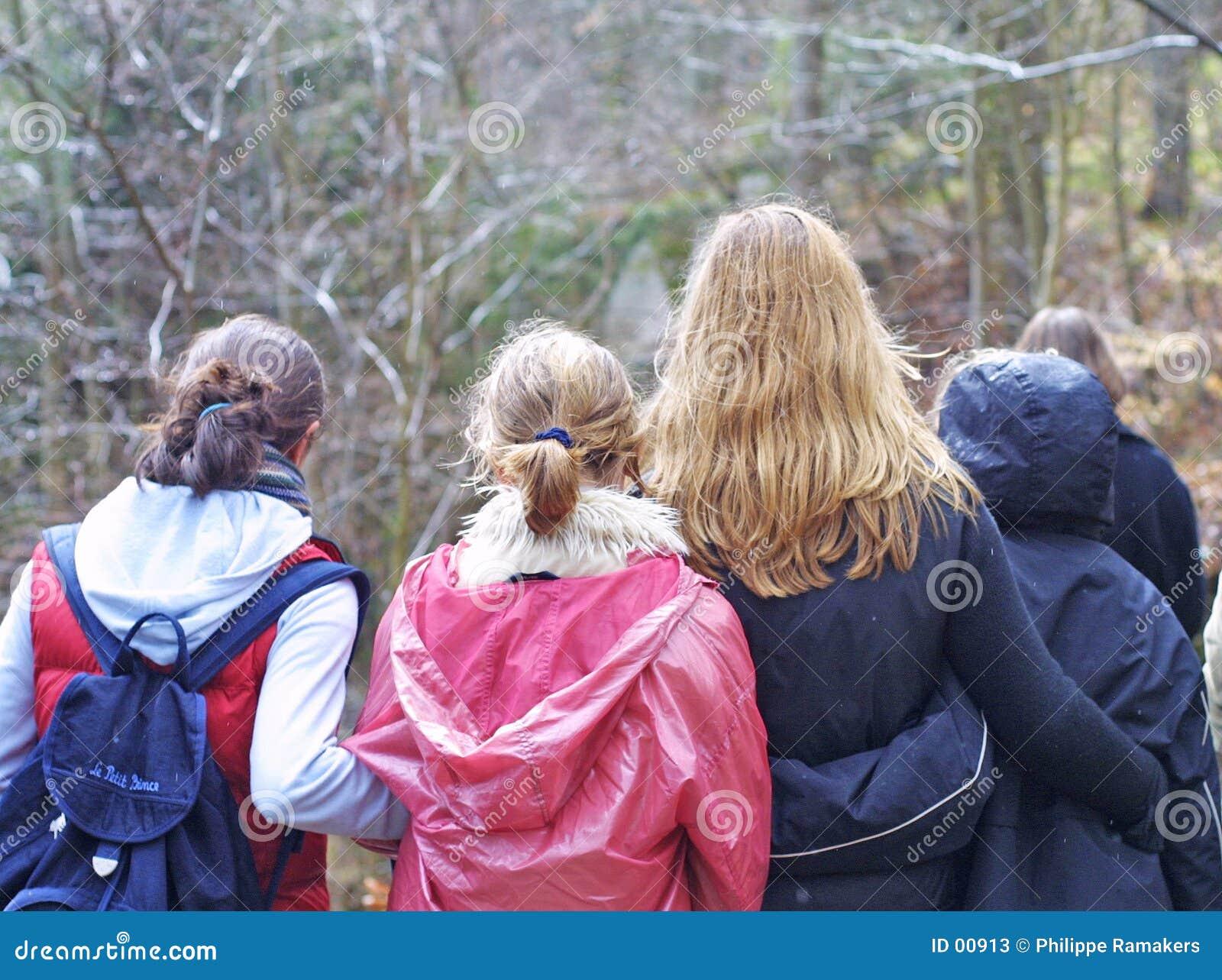 Gruppo teenager