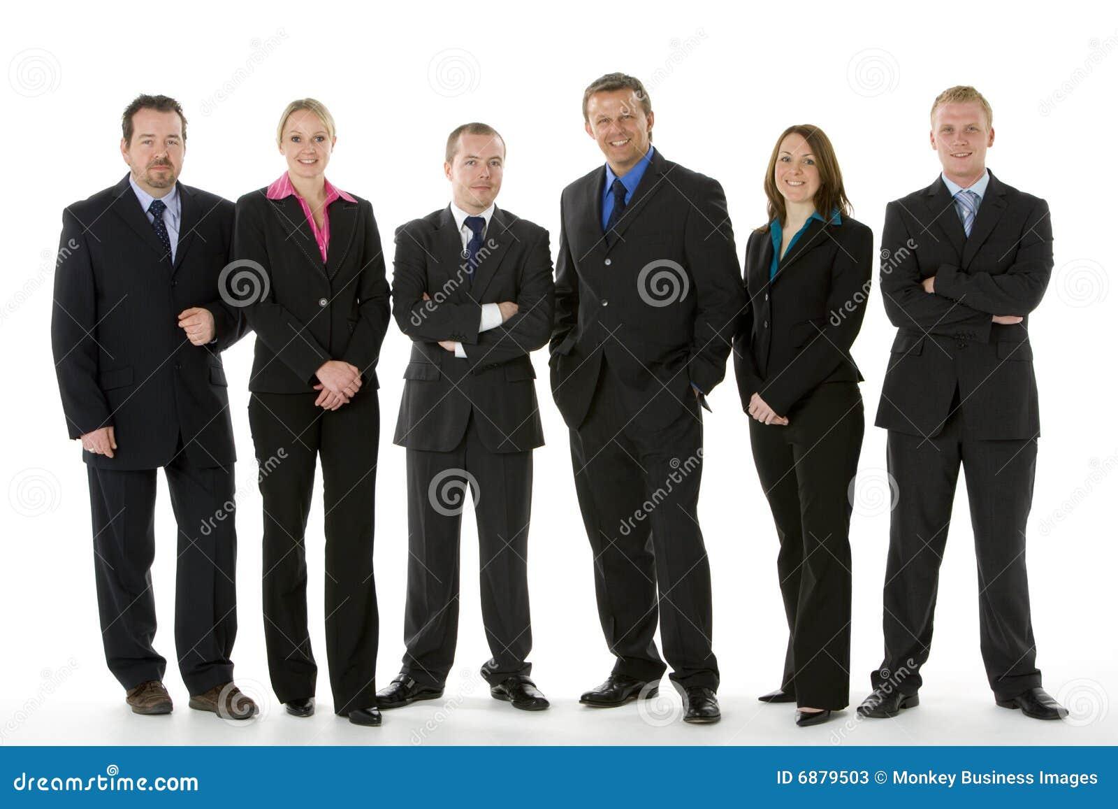 Grupy biznesowej linia ludzie target1036_1_