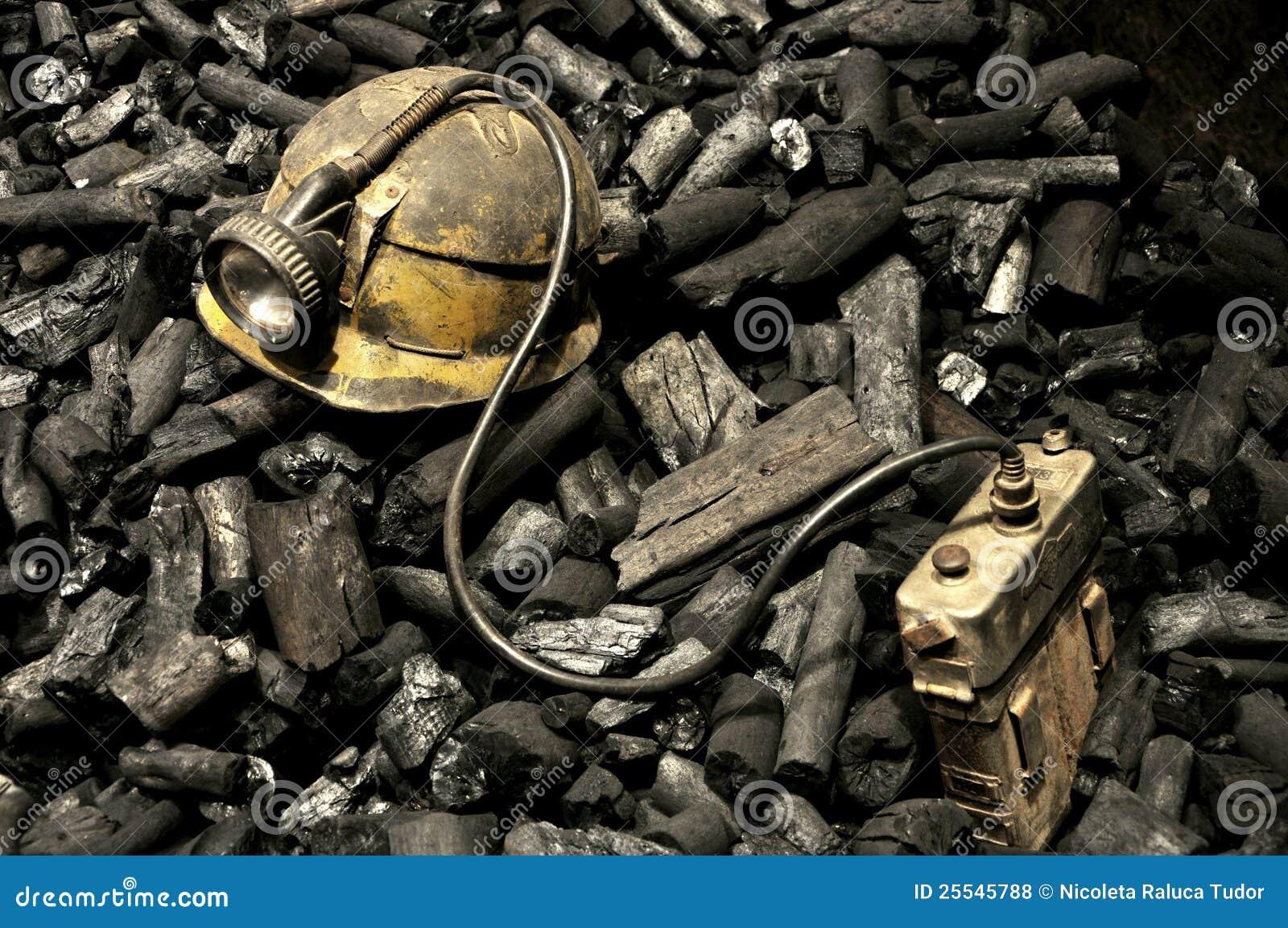 Gruvarbetarehjälpmedel och kol