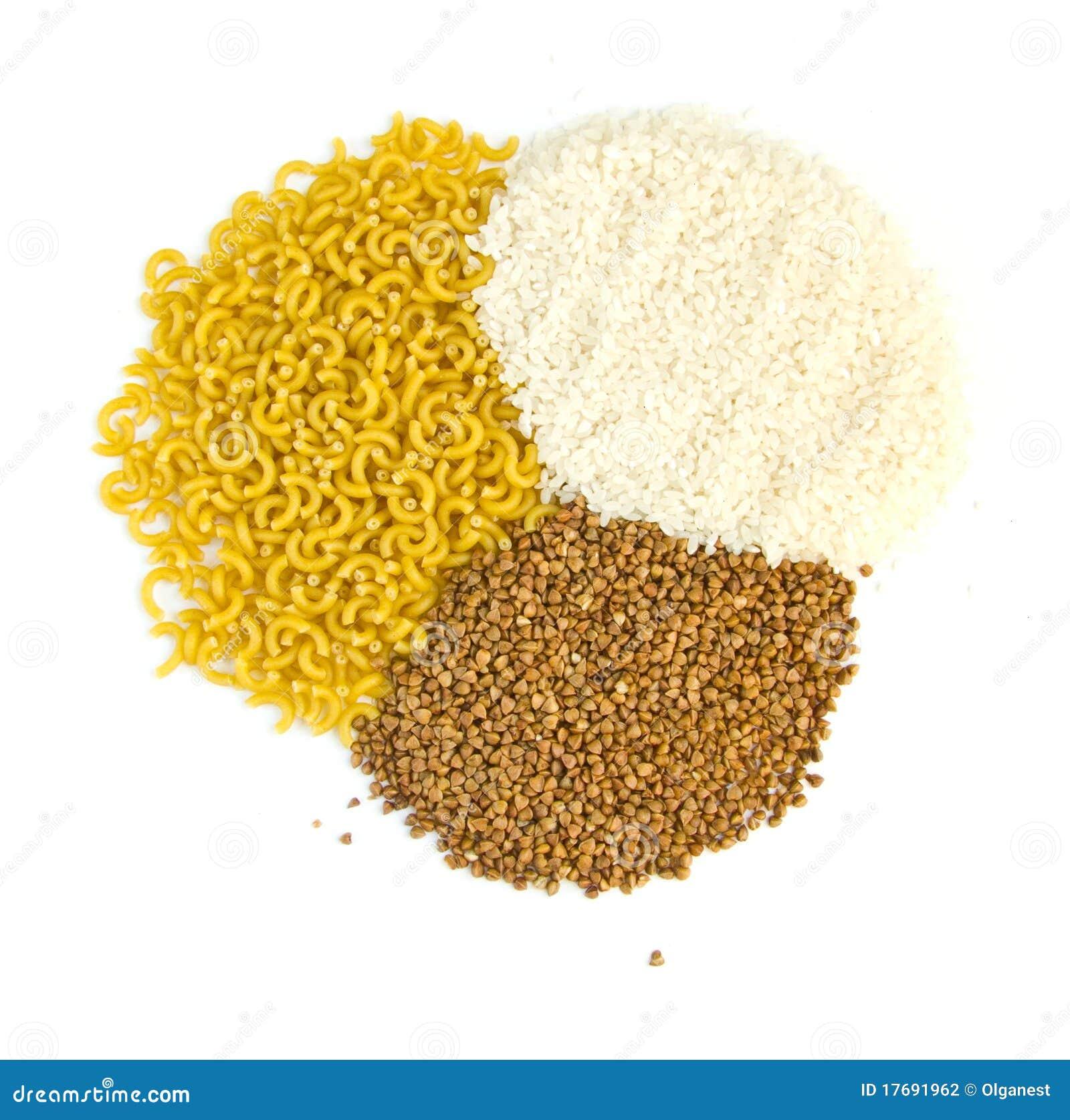 Gryczanych groats makaronu ryż