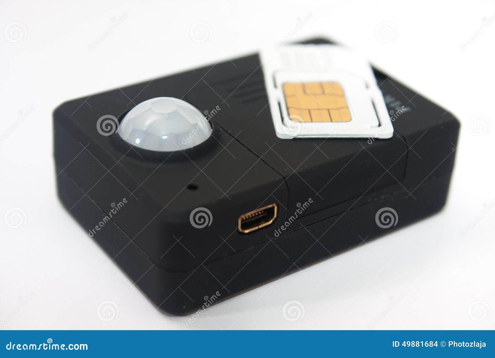 Gsm Pir Motion Detector Sensor Alarm With Sim Card Stock