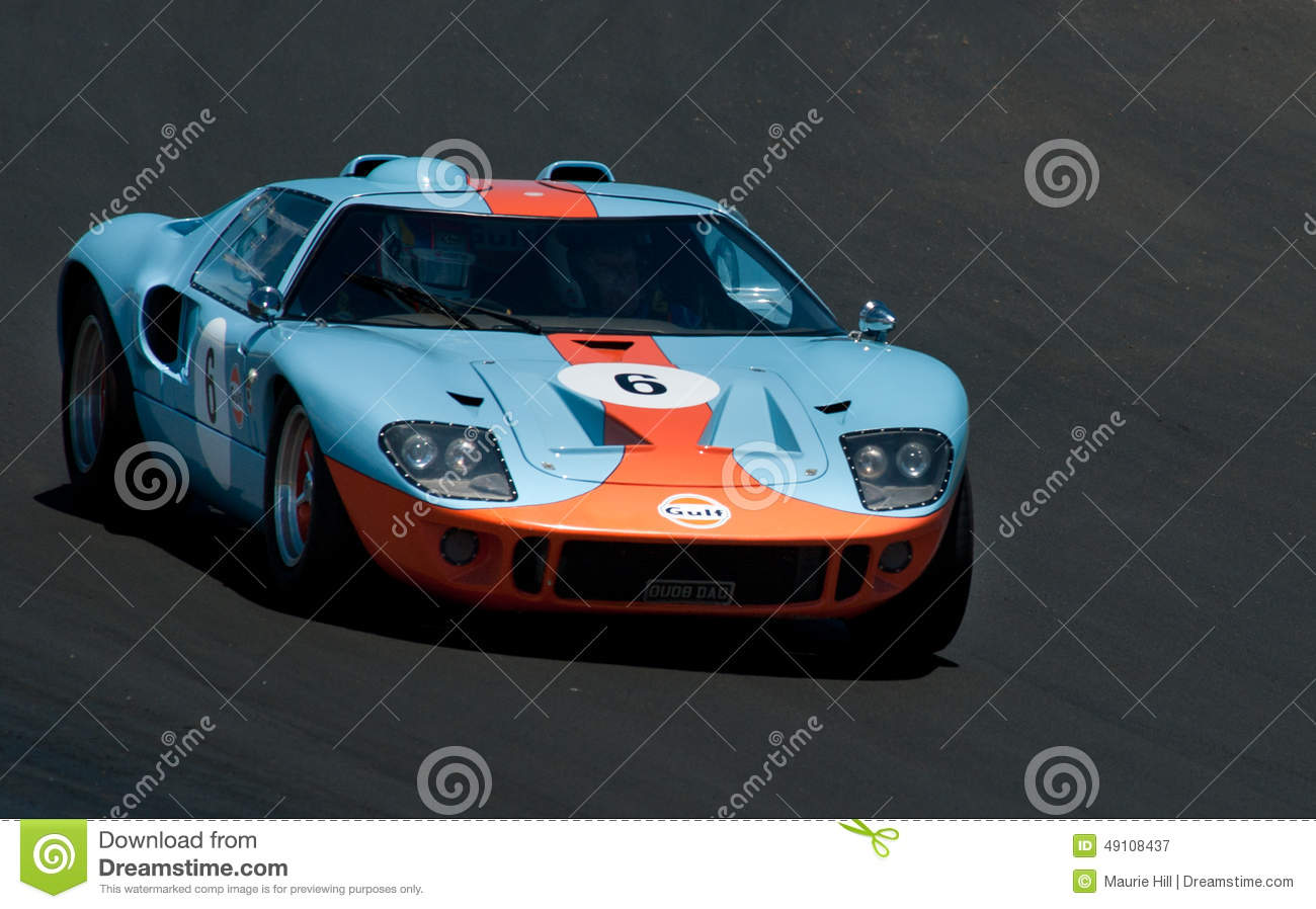 Gt40 Ford Racing Car Editorial Photography Image 49108437