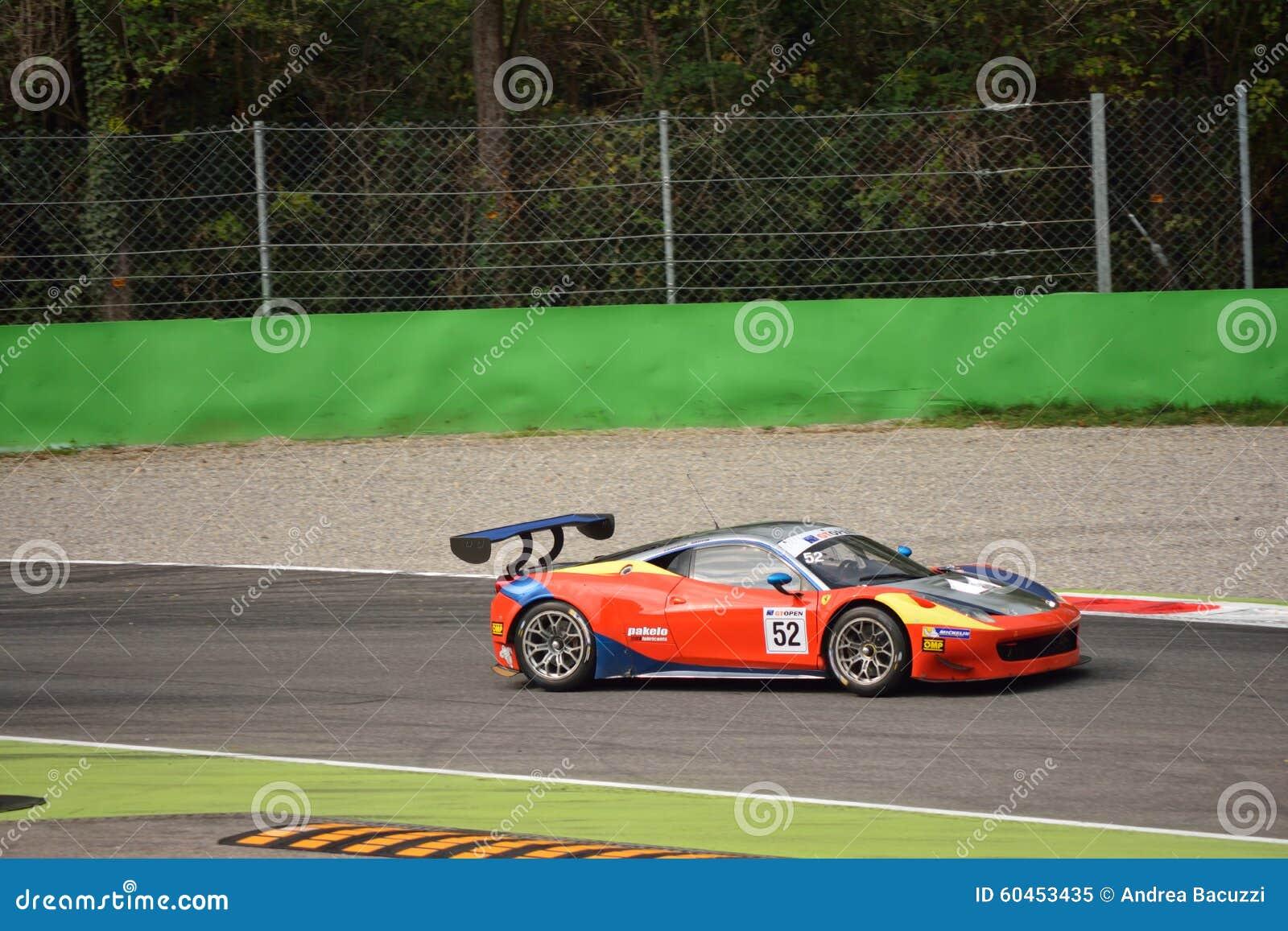 Gt Open Ferrari 458 Italia Gt3 At Monza Editorial Image