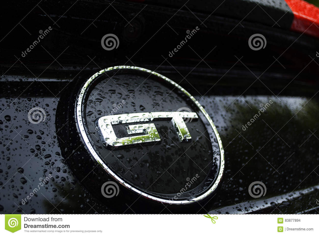 Gt Under Rain With Water Drops Editorial Stock Image Image Of