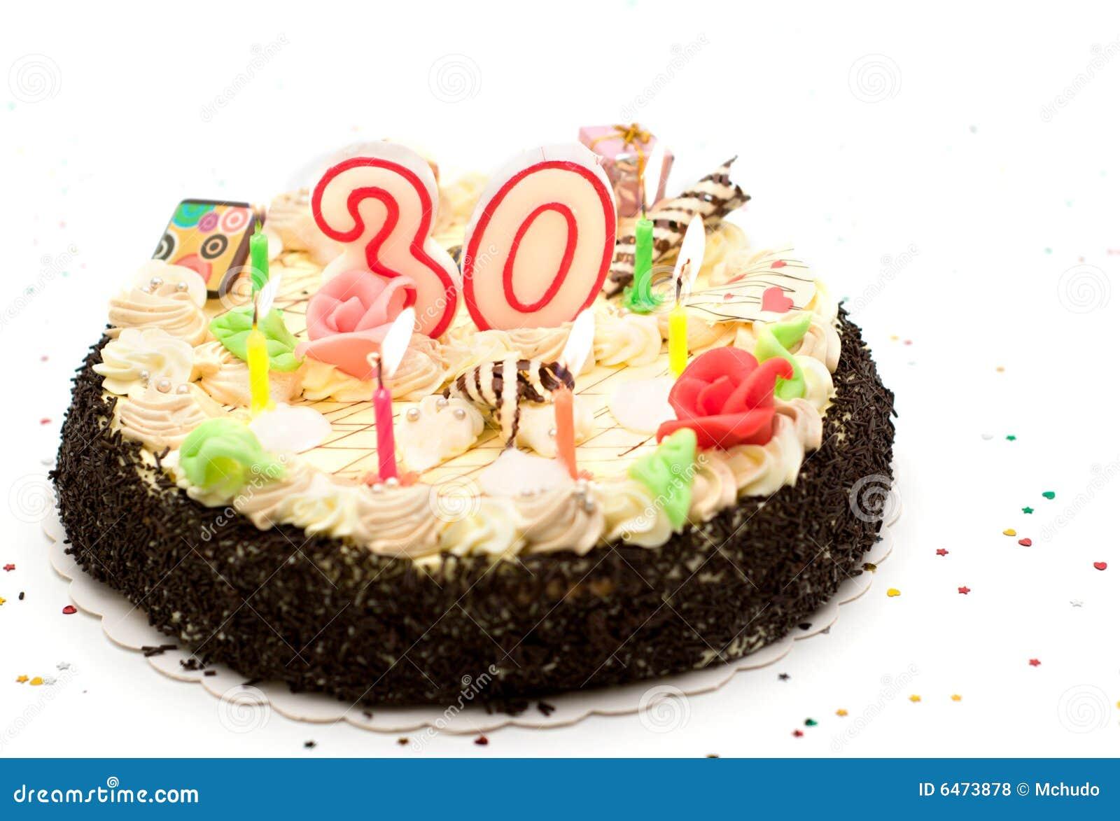 g teau d 39 anniversaire 30 ans photos libres de droits image 6473878. Black Bedroom Furniture Sets. Home Design Ideas