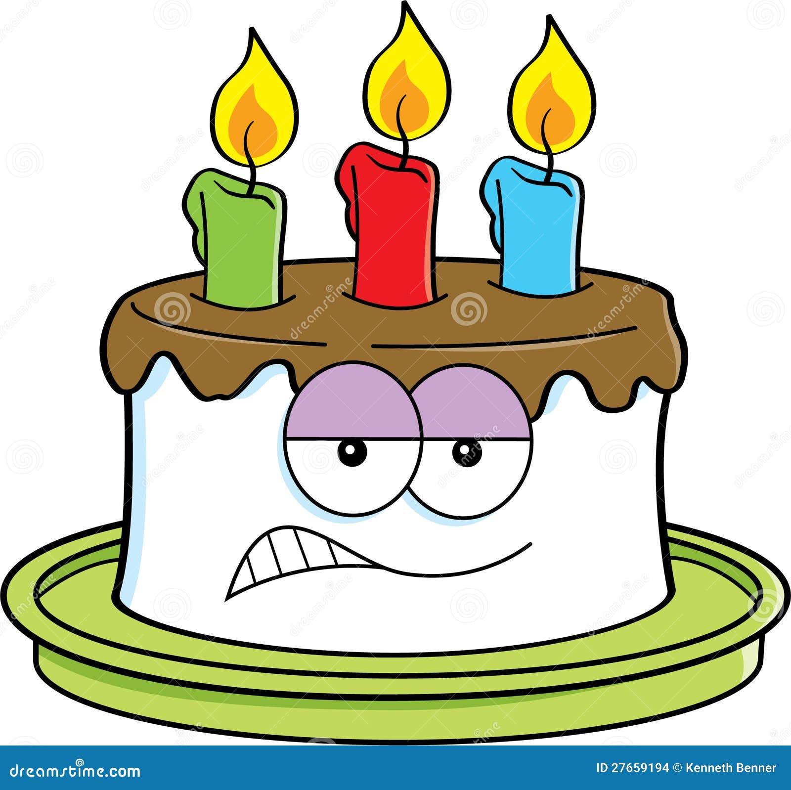 g teau f ch de dessin anim images stock image 27659194 dessin gateau anniversaire - Dessin Sur Gateau