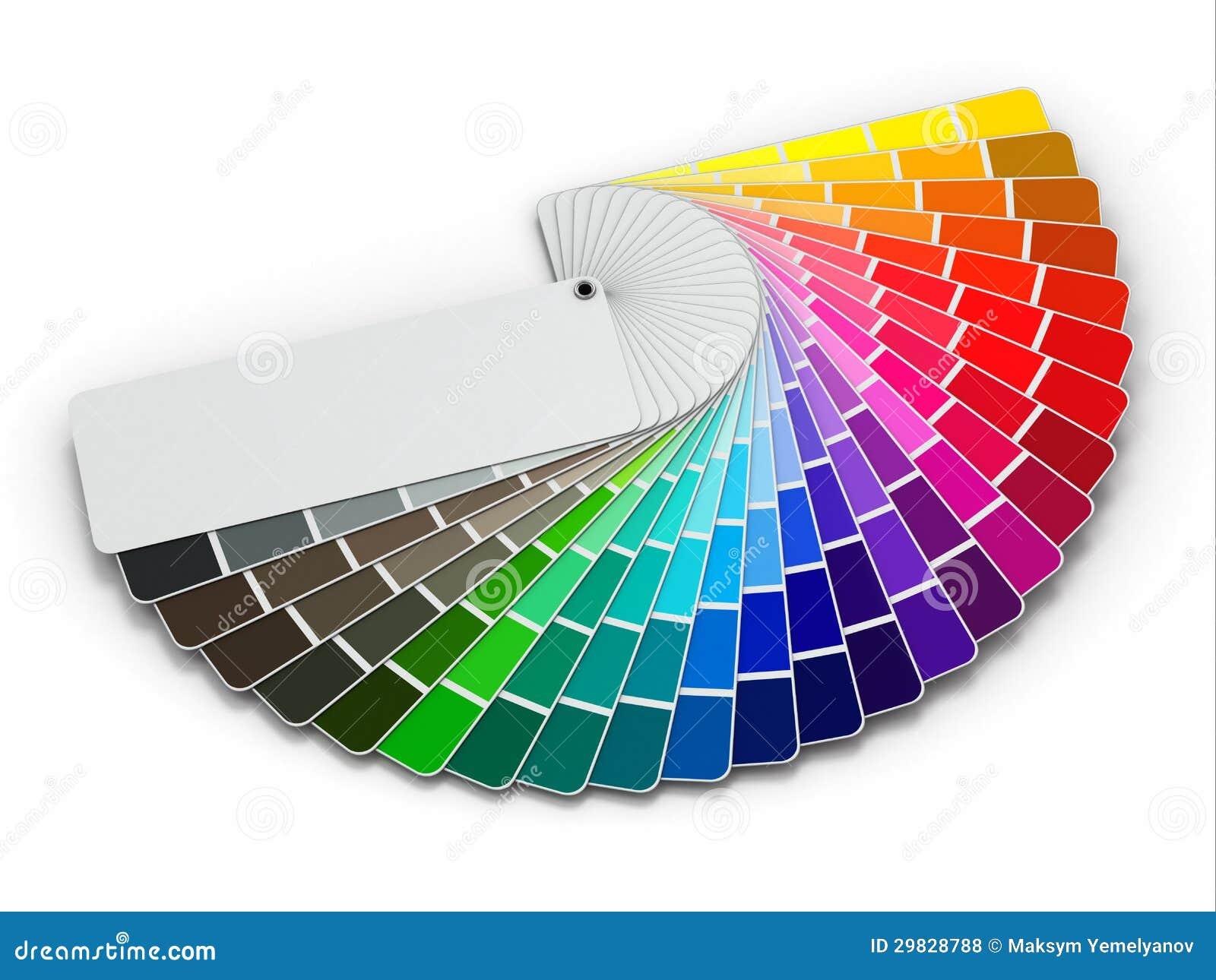 Gu a de la paleta de colores en el fondo blanco fotos de - Paleta de colores titanlux ...