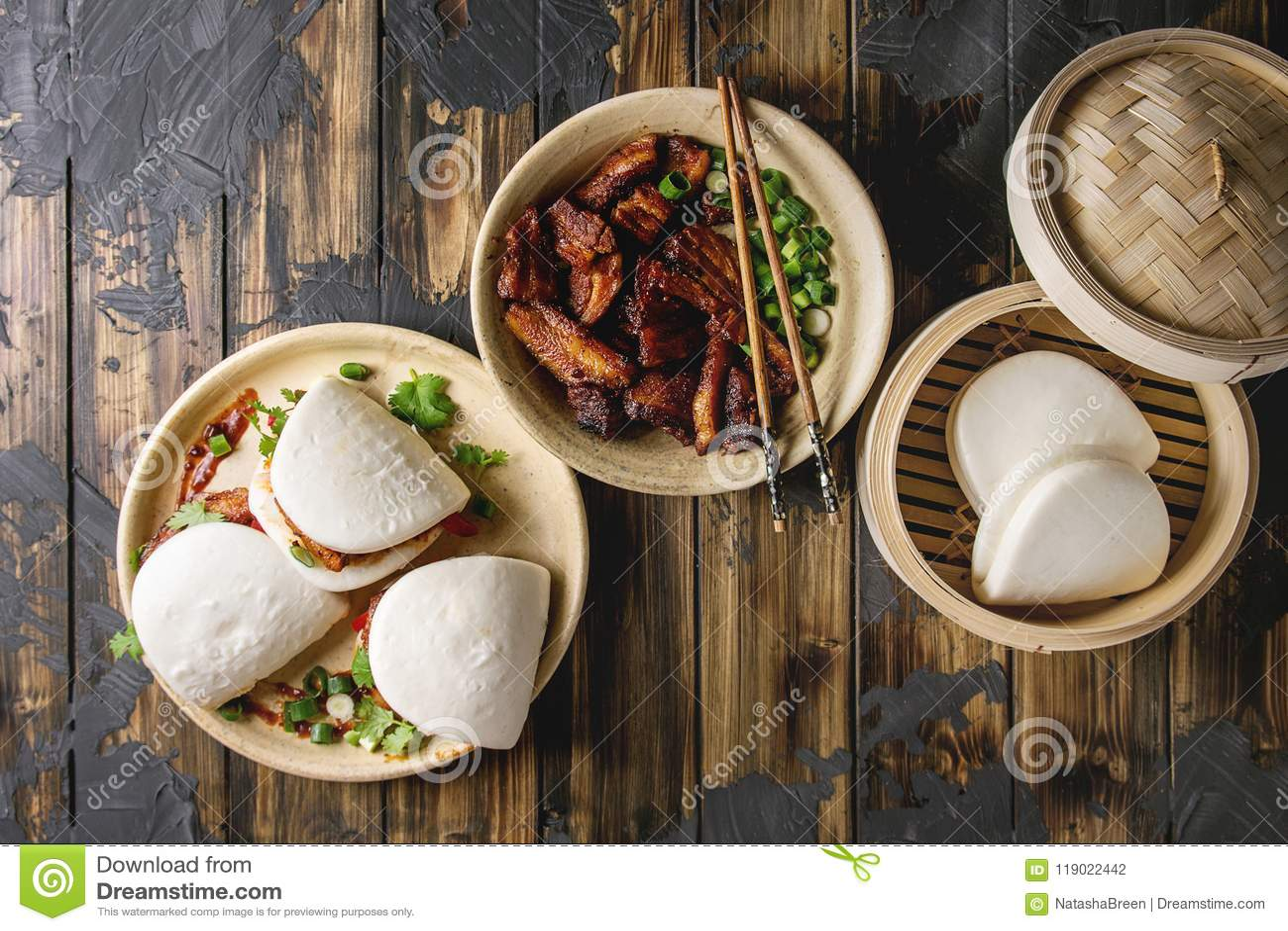Gua bao babeczki z wieprzowiną